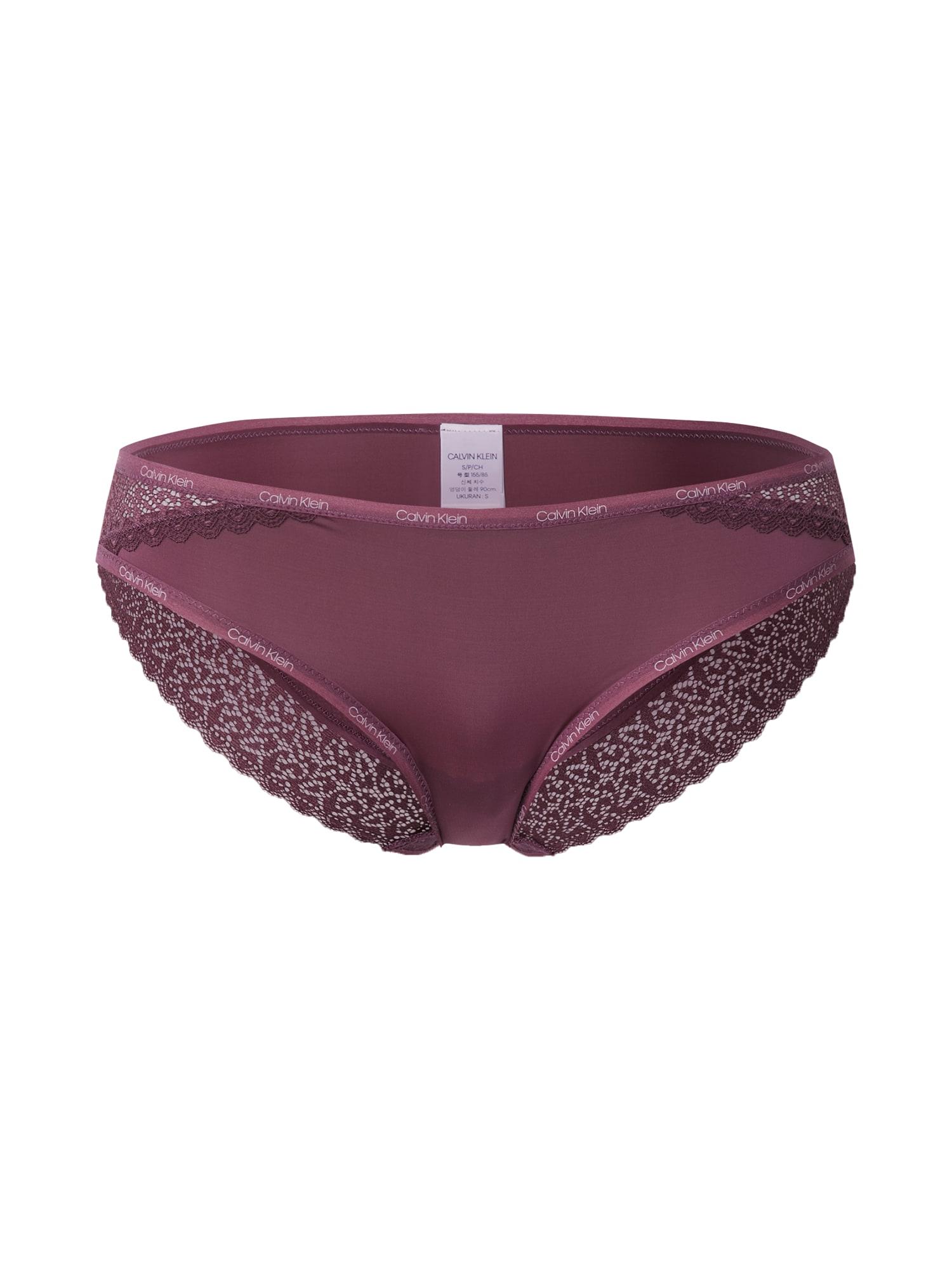 Calvin Klein Underwear Moteriškos kelnaitės uogų spalva