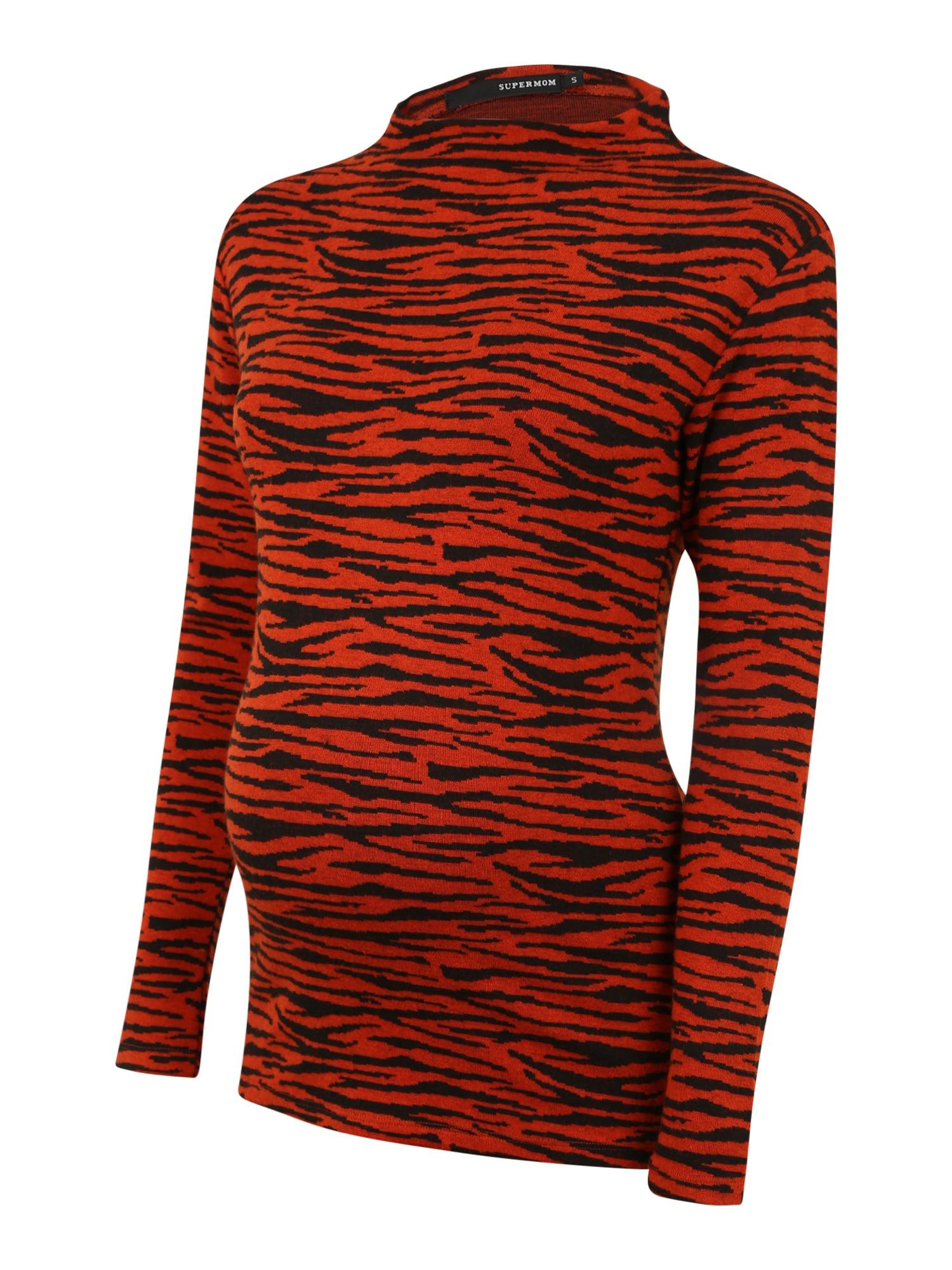 Supermom Marškinėliai raudona / juoda