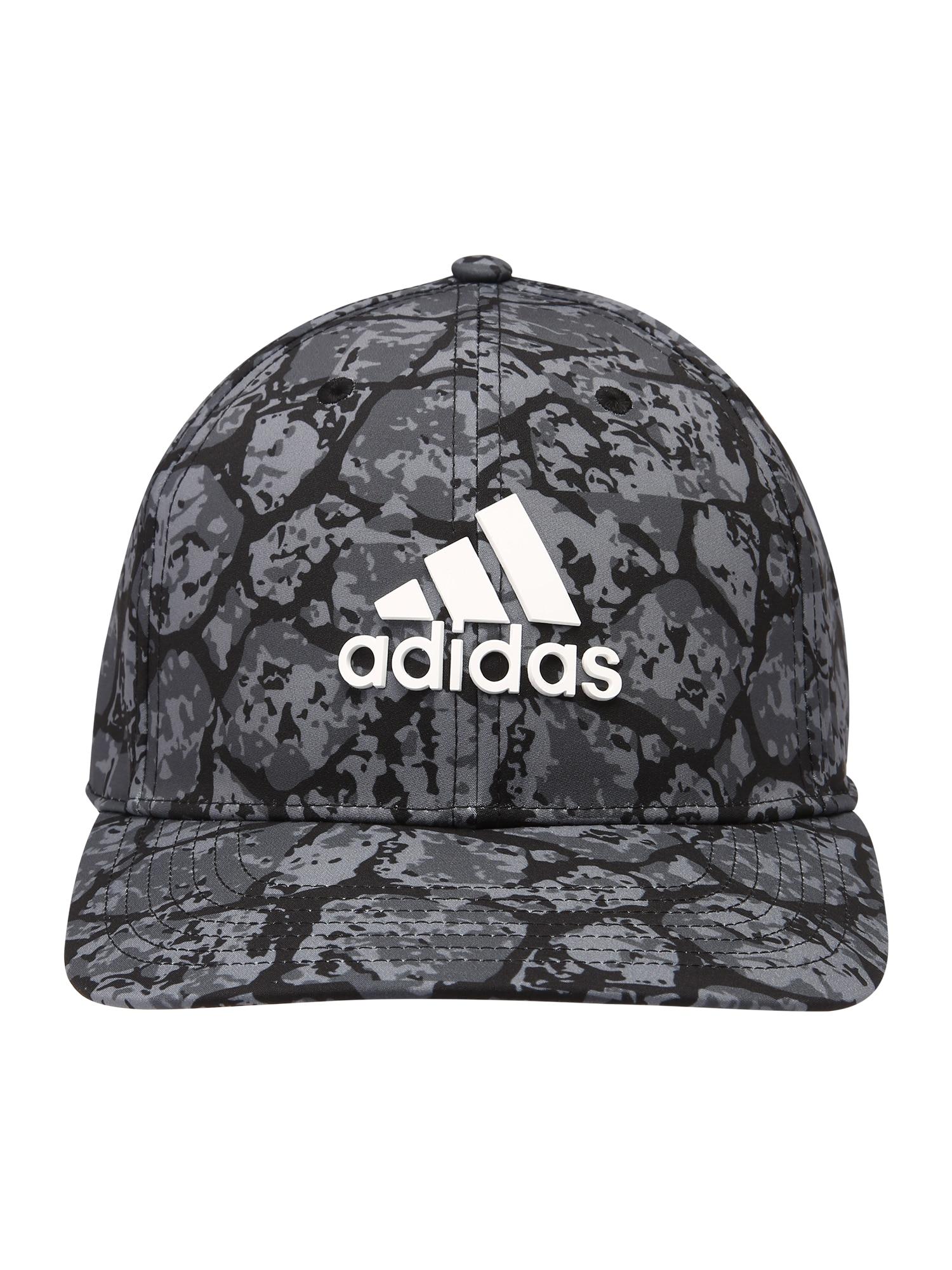 adidas Golf Sportinė kepurė juoda / balta / pilka / tamsiai pilka