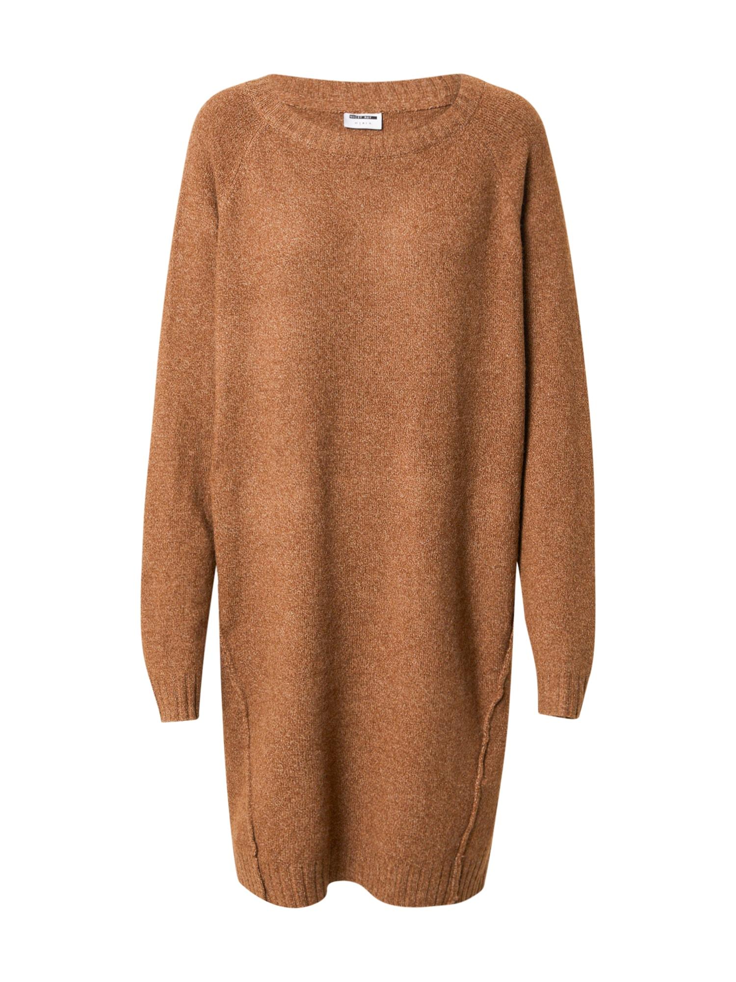 Noisy may Úpletové šaty 'IAN'  béžový melír
