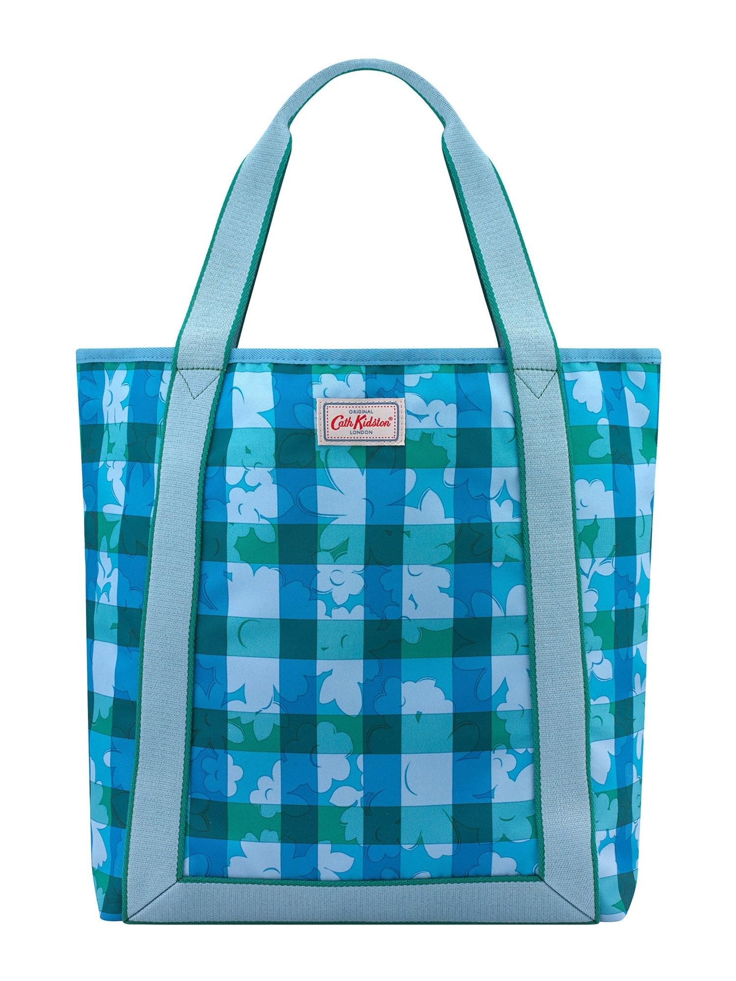 Cath Kidston Pirkinių krepšys dangaus žydra / nakties mėlyna / žalia / nefrito spalva / pilka