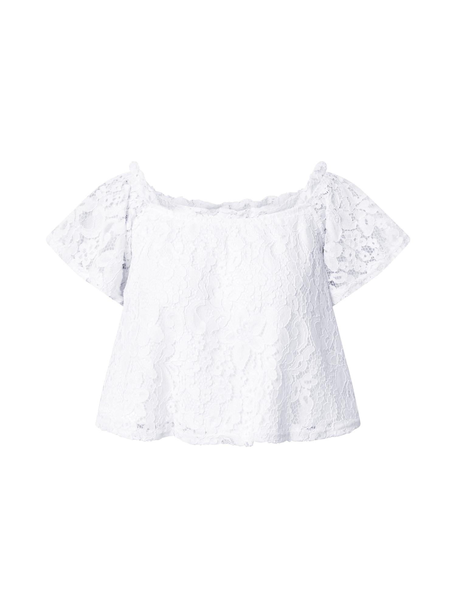 NA-KD Tričko  bílá