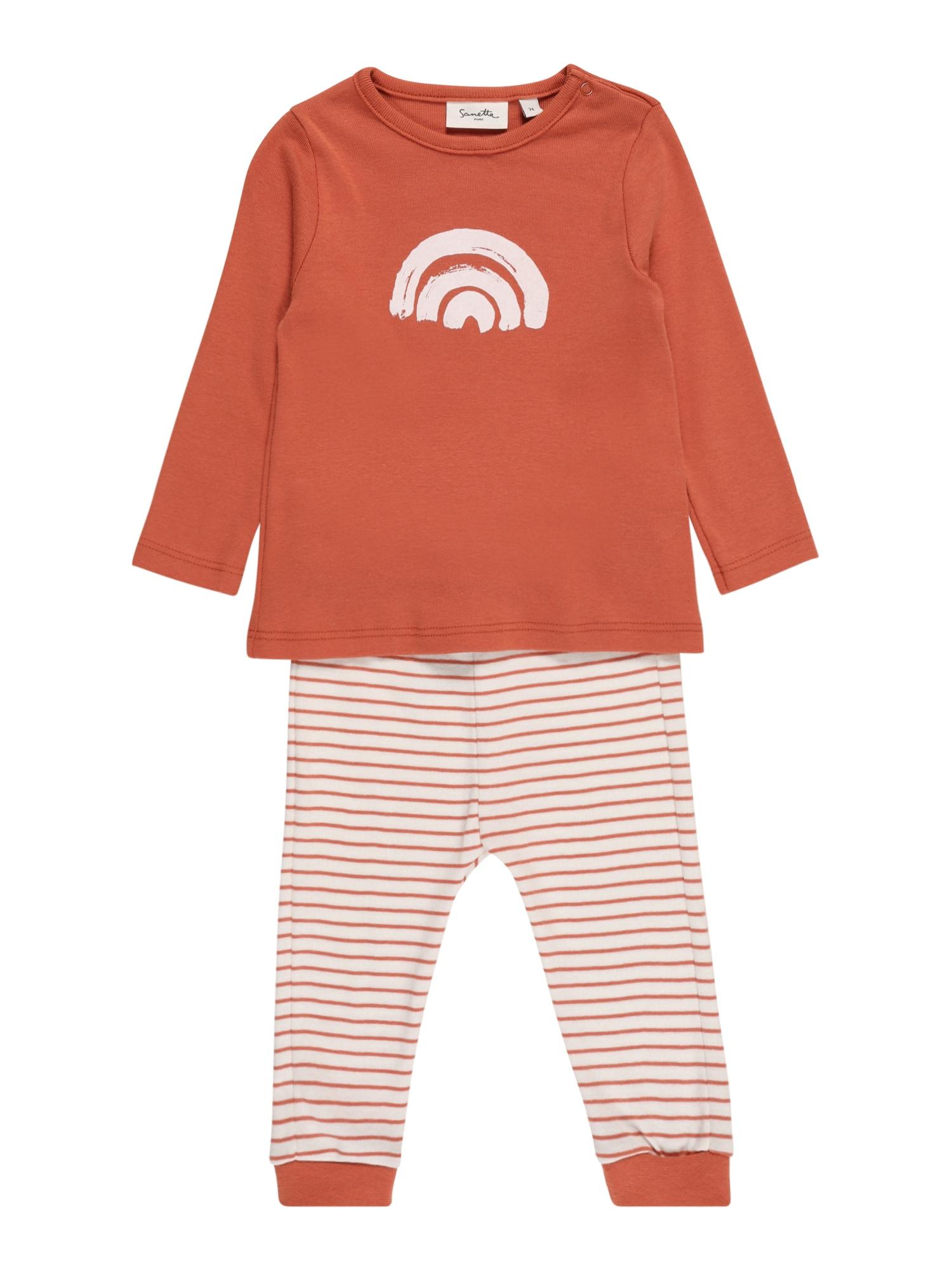 Sanetta Pure Miego kostiumas balta / oranžinė-raudona