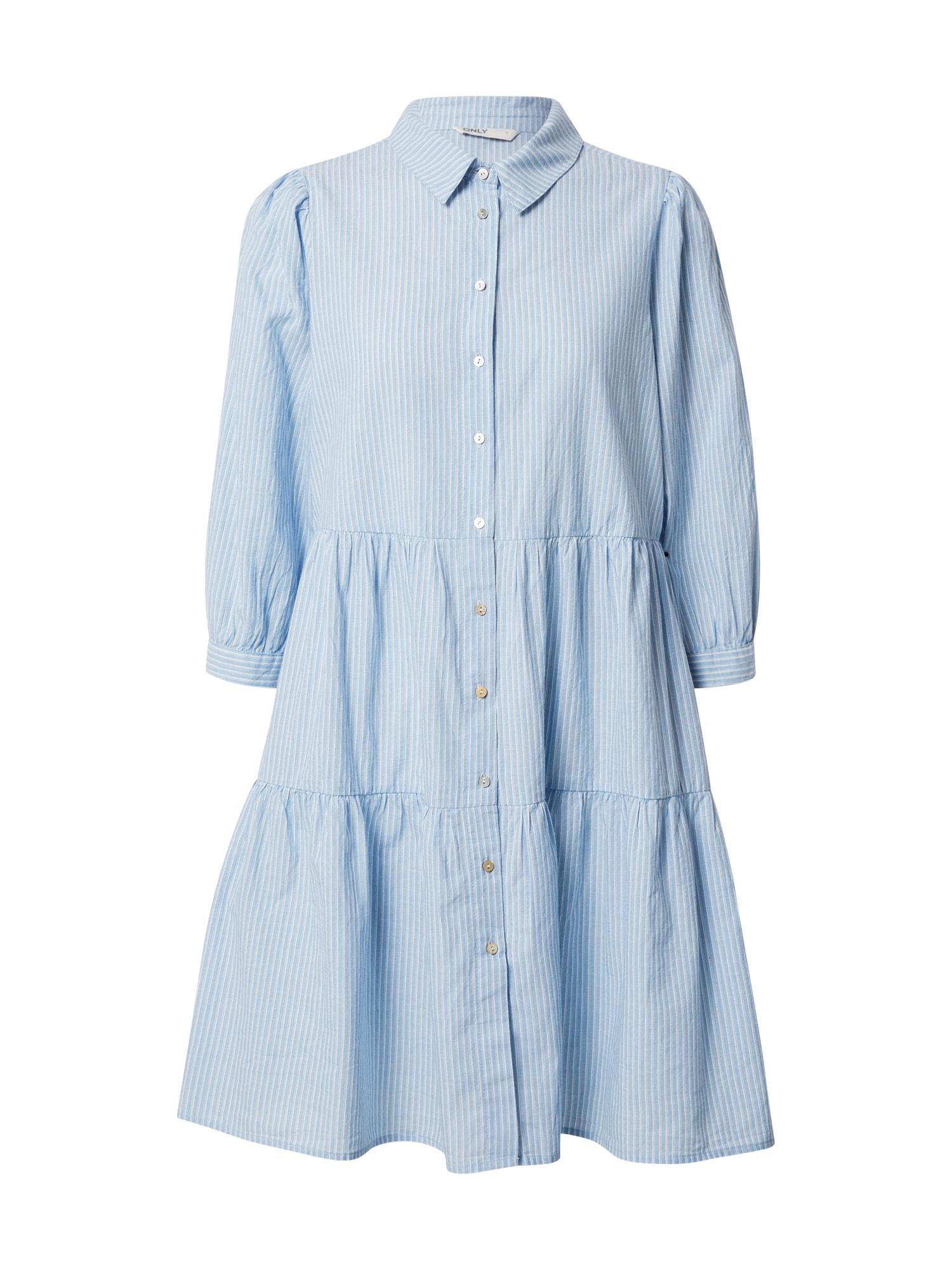 ONLY Košilové šaty 'Amaryllis'  modrá / bílá