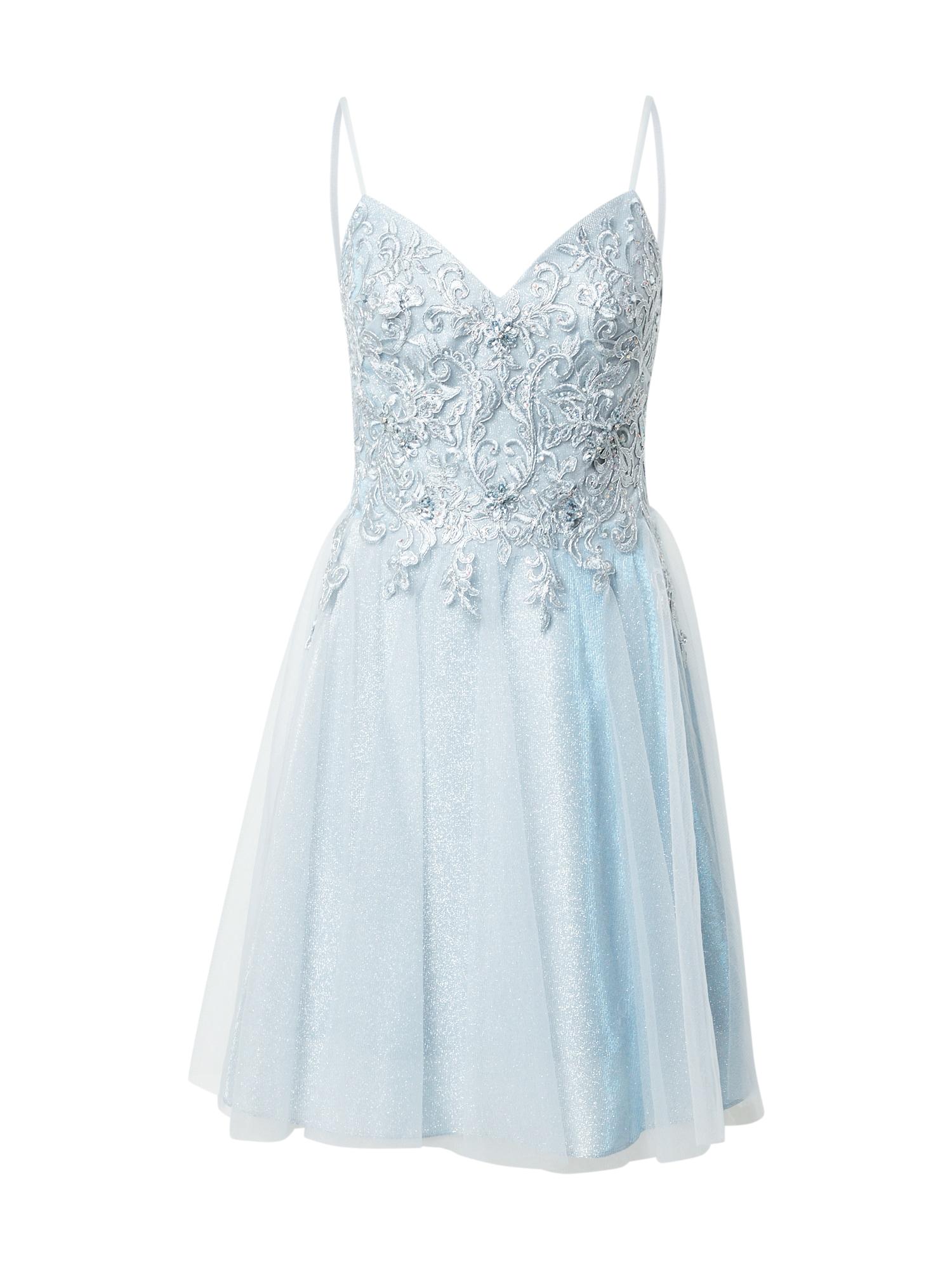 LUXUAR Kokteilinė suknelė azuro spalva