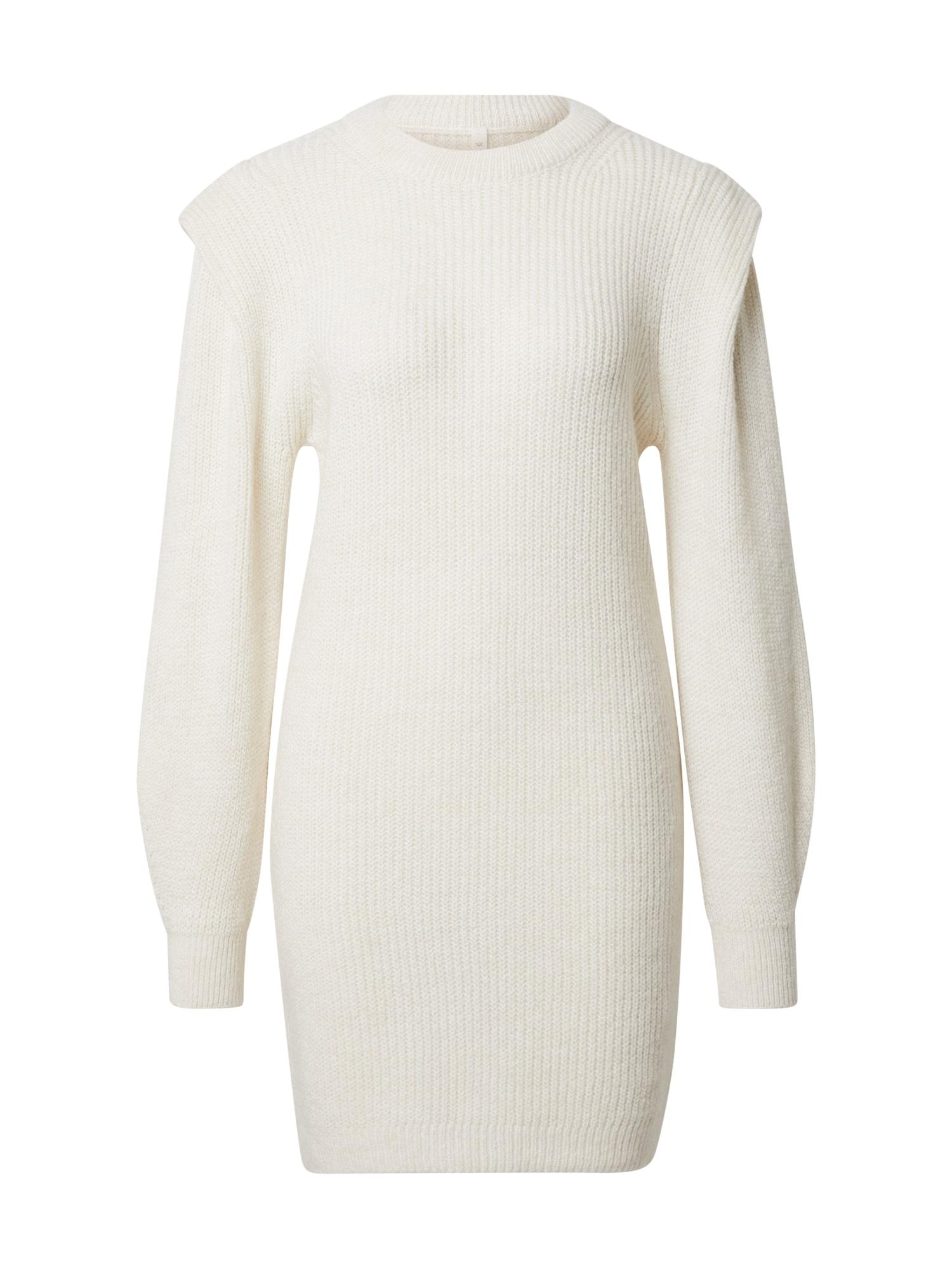 DeFacto Úpletové šaty  bílá
