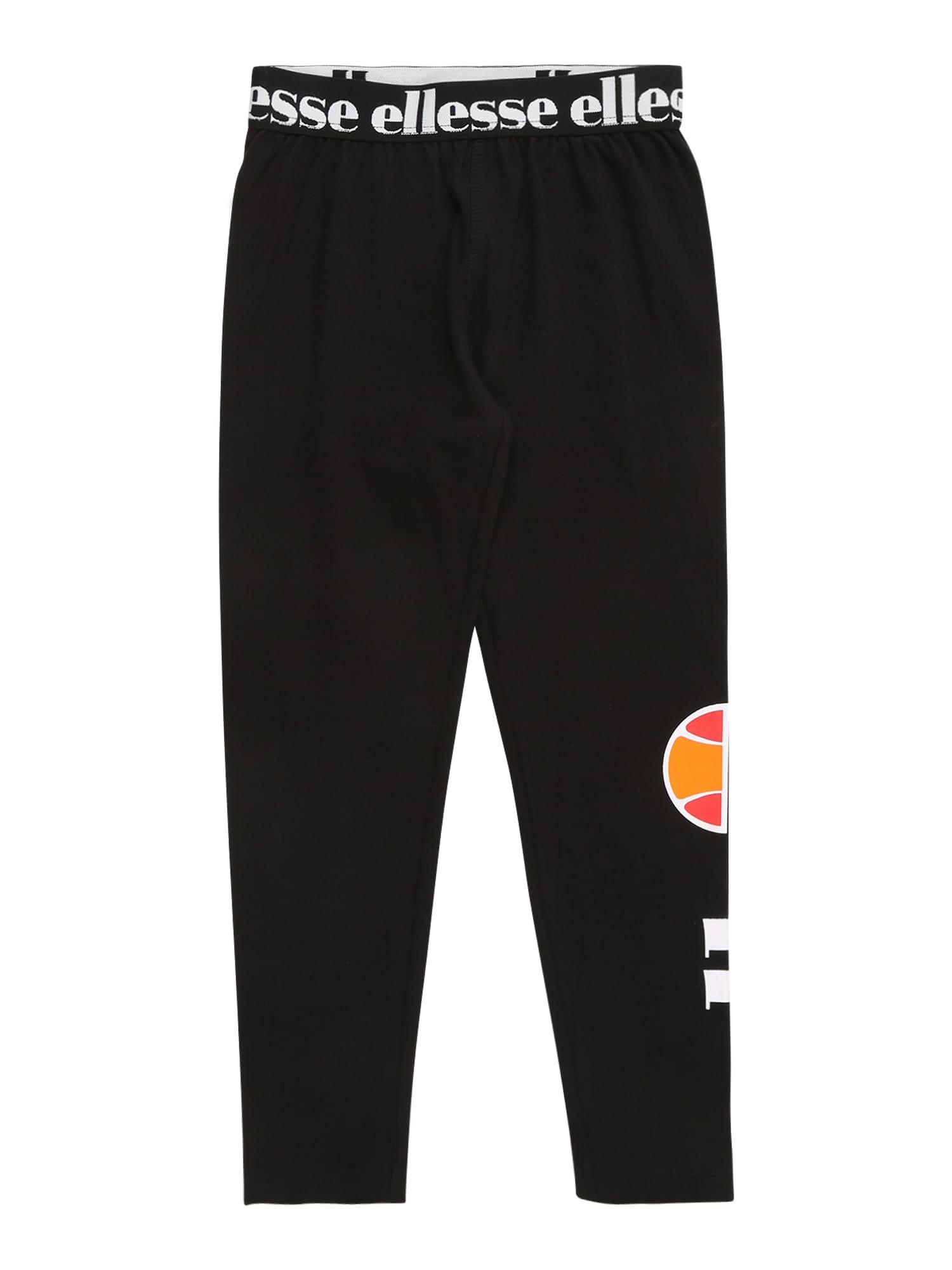 ELLESSE Kelnės 'Fabi' juoda / balta / oranžinė