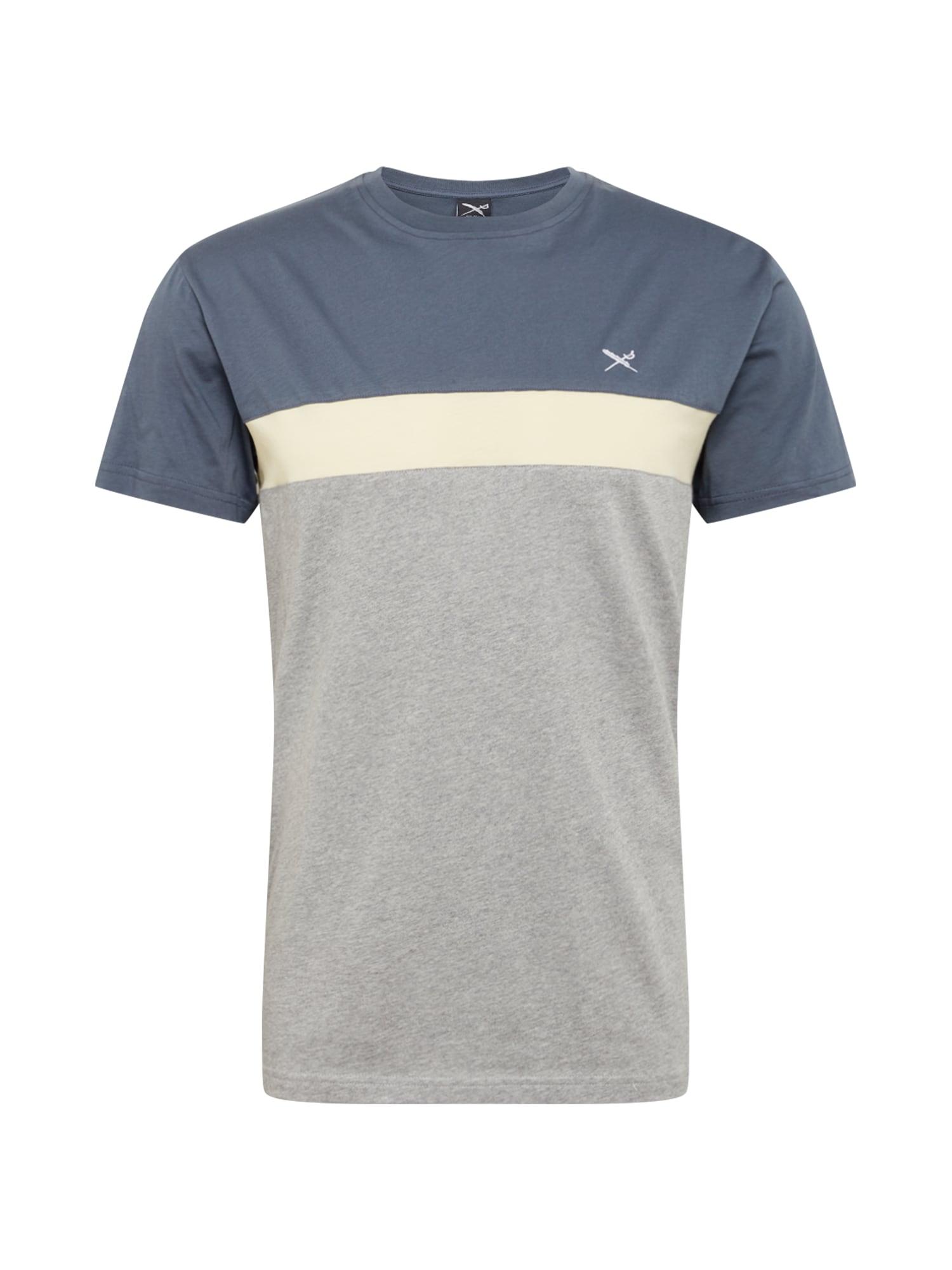 Iriedaily Marškinėliai 'Court' margai pilka / melsvai pilka / balta