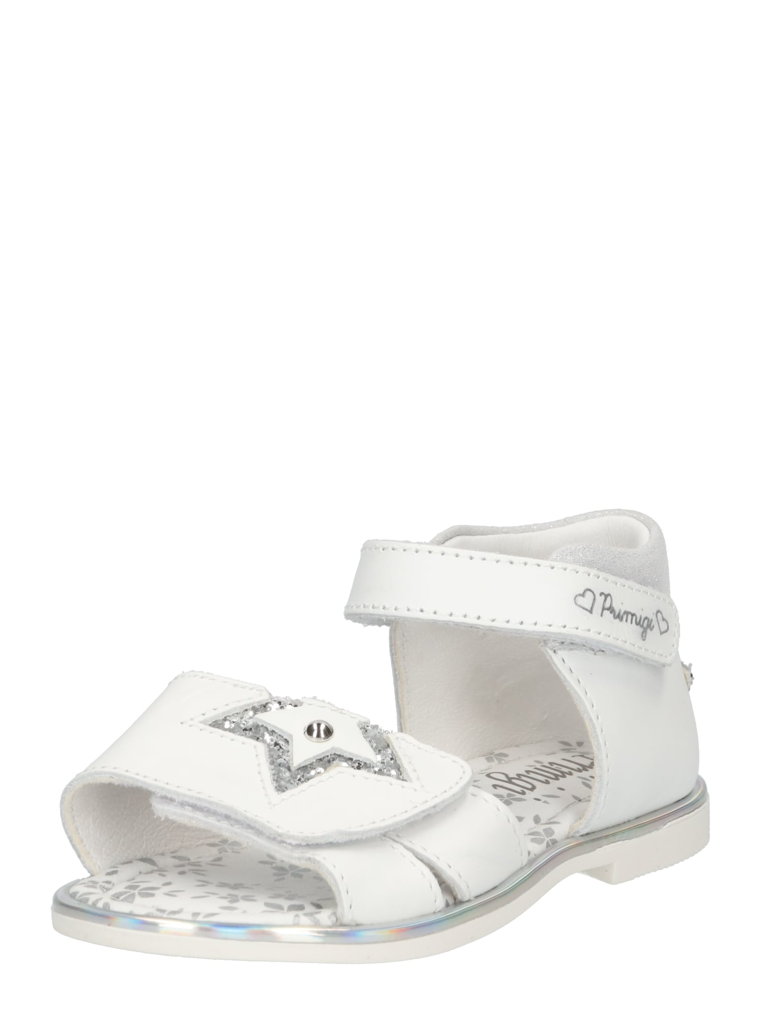 PRIMIGI Sandalai balta / sidabrinė