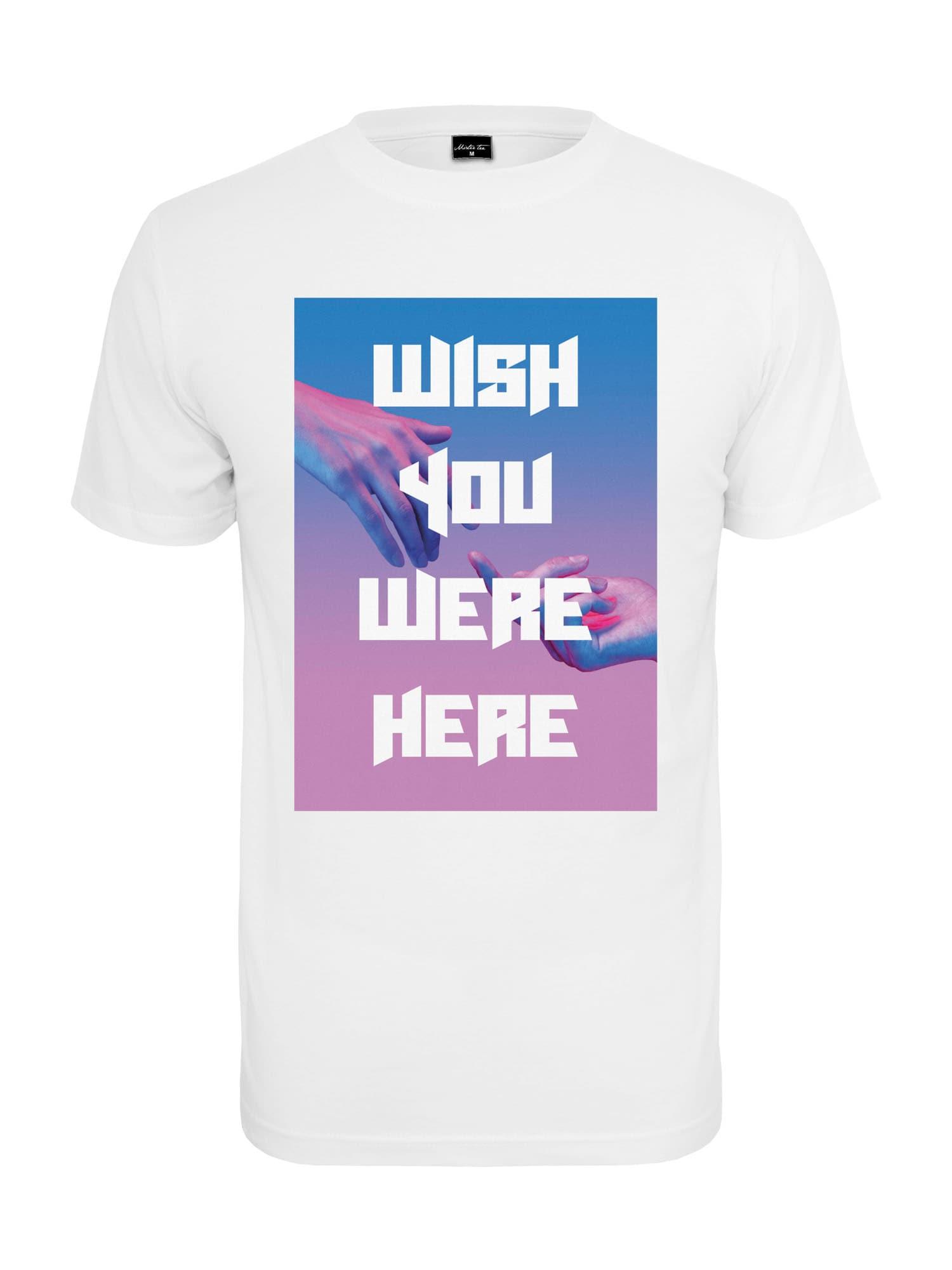 Mister Tee Marškinėliai balta / purpurinė / mėlyna
