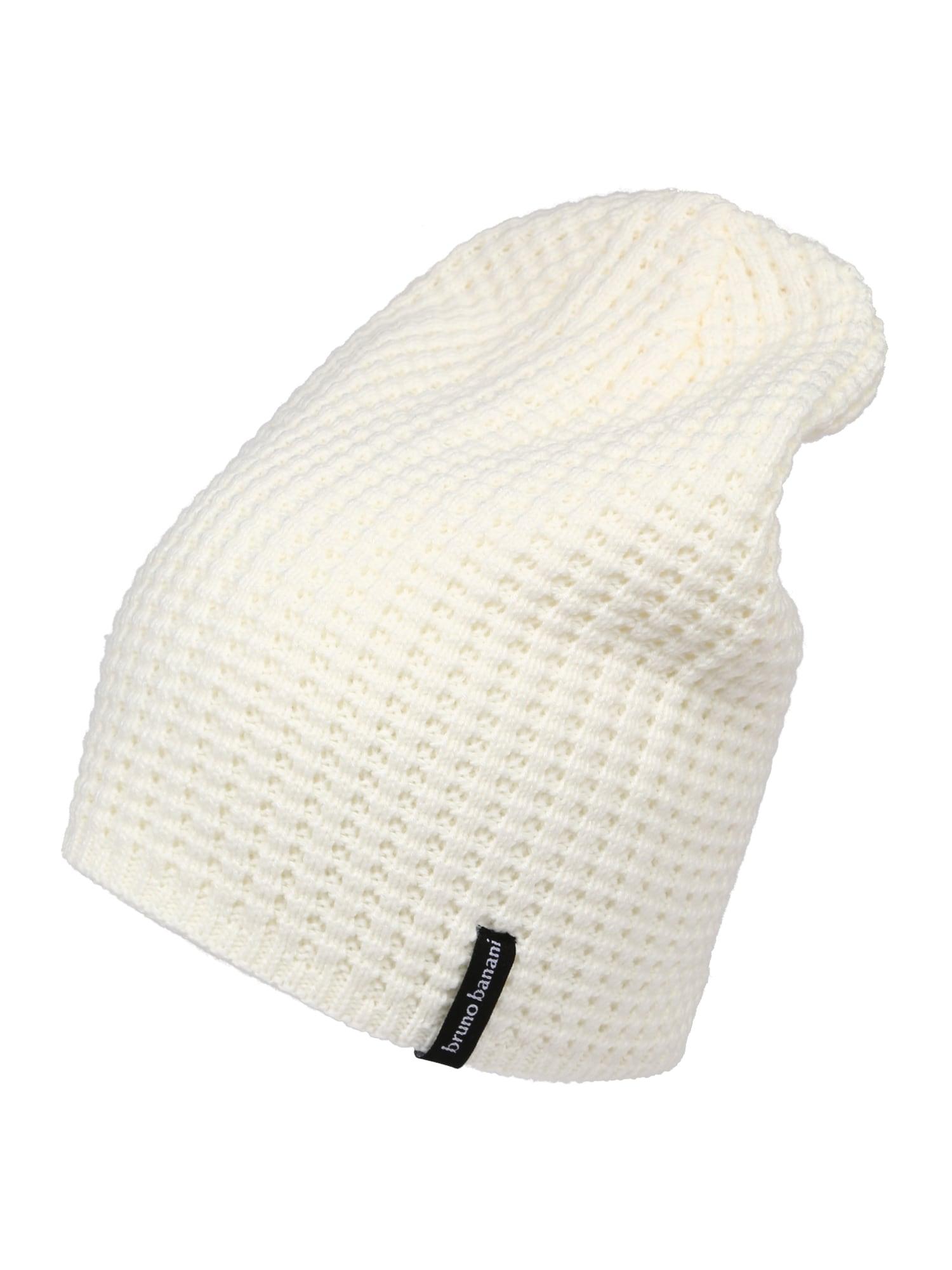 BRUNO BANANI Megzta kepurė balta