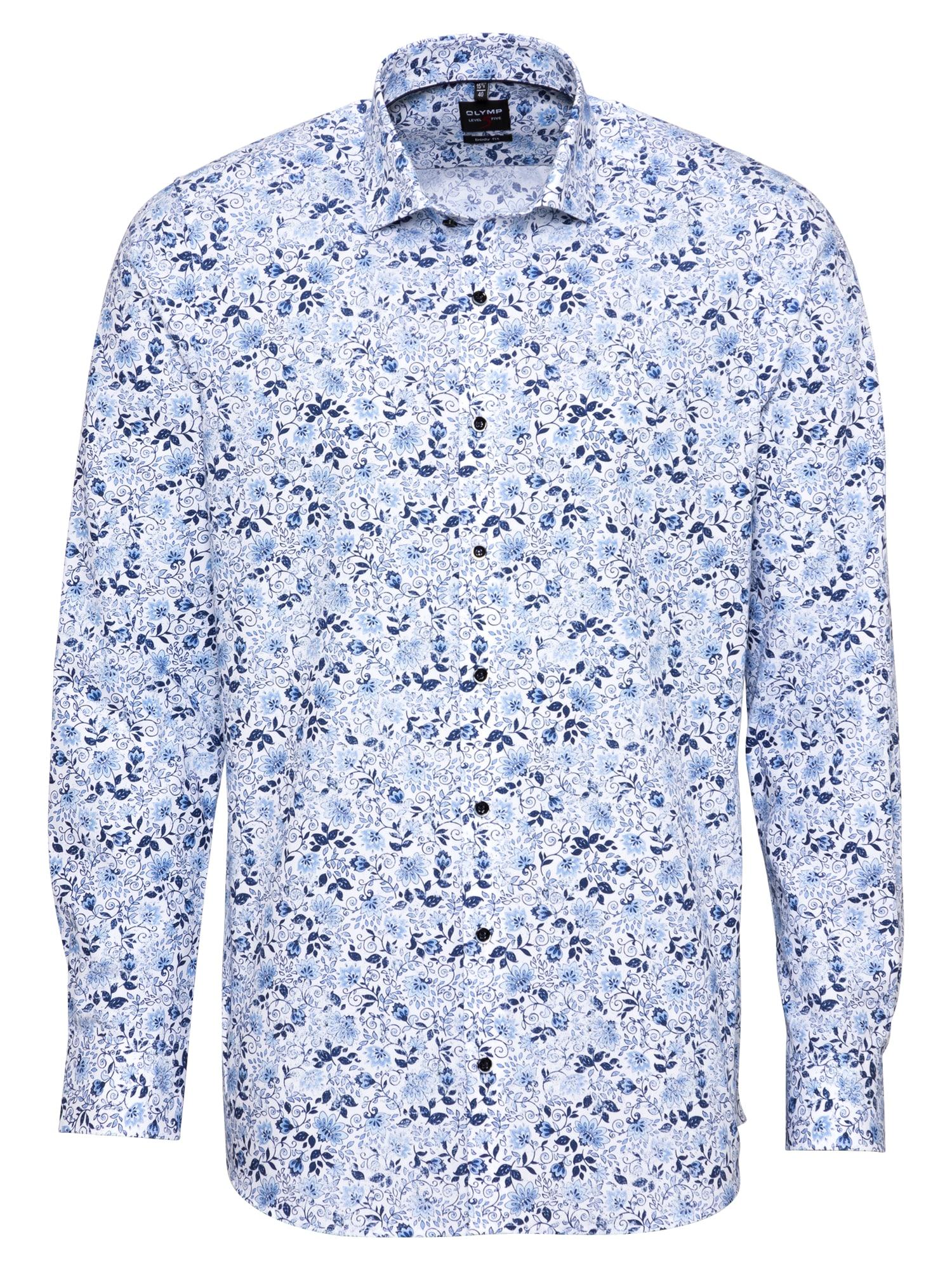 OLYMP Marškiniai balta / mėlyna