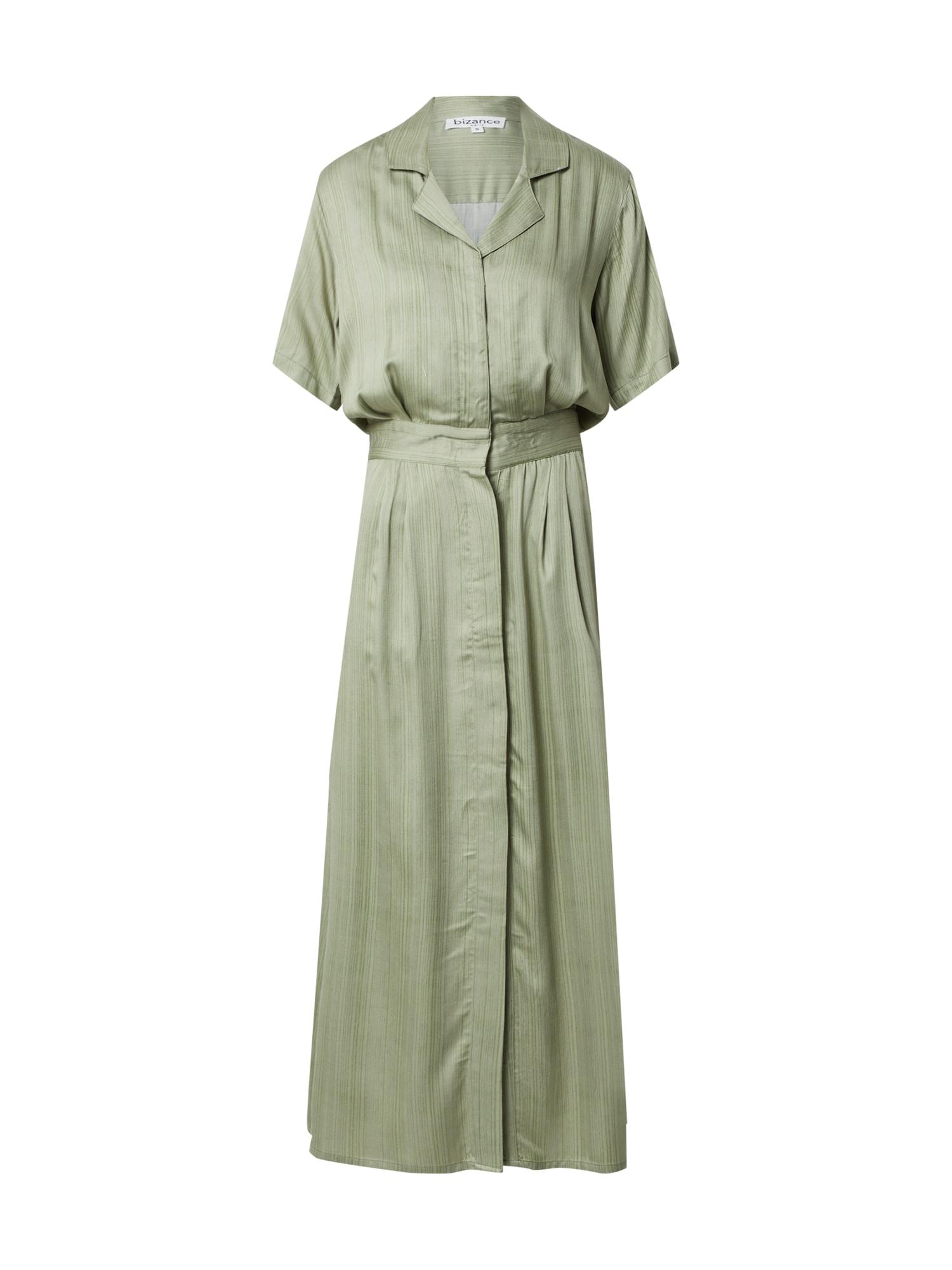 Bizance Paris Palaidinės tipo suknelė rusvai žalia / tamsiai žalia
