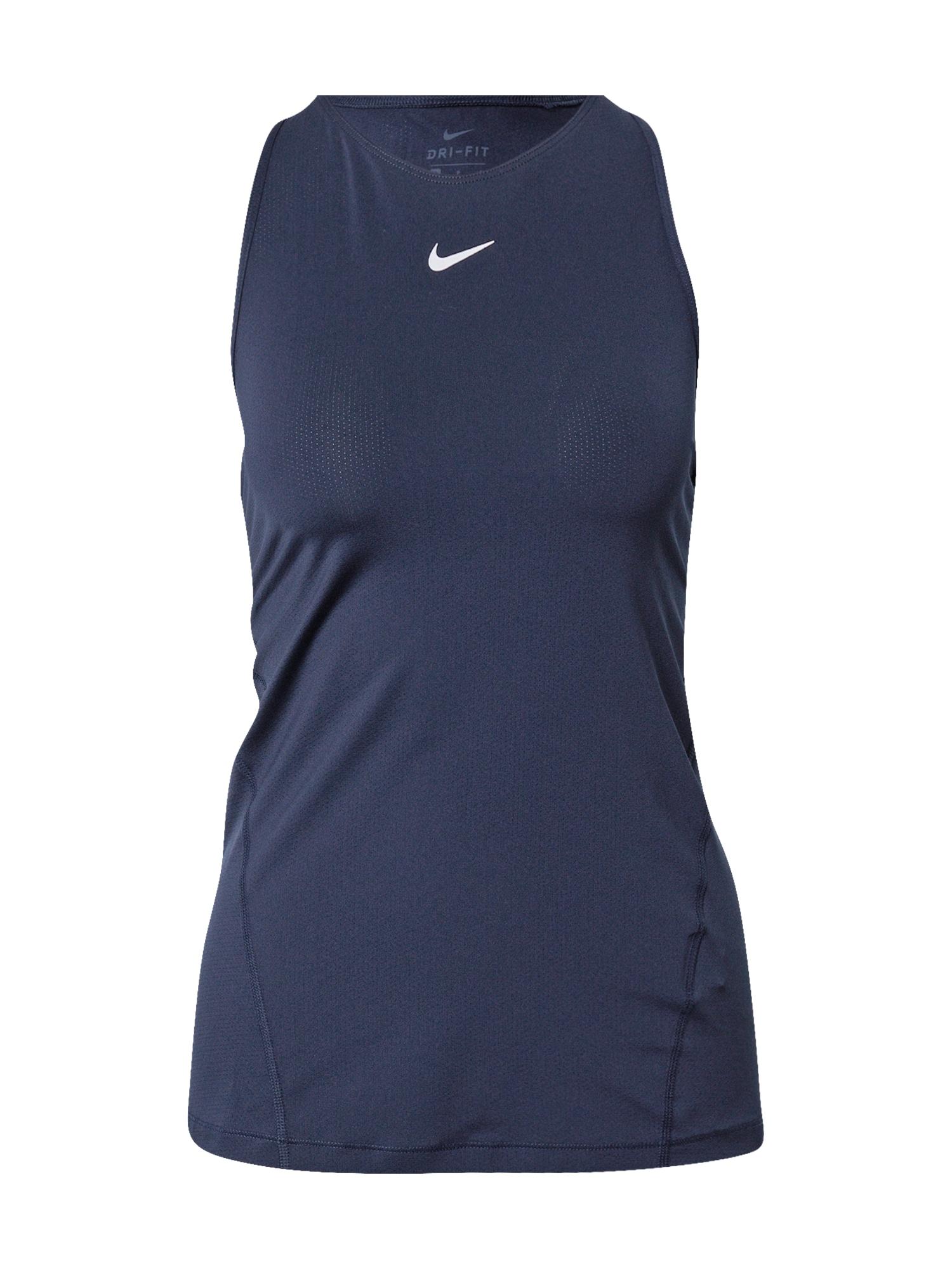 NIKE Sportiniai marškinėliai be rankovių tamsiai mėlyna / šviesiai pilka