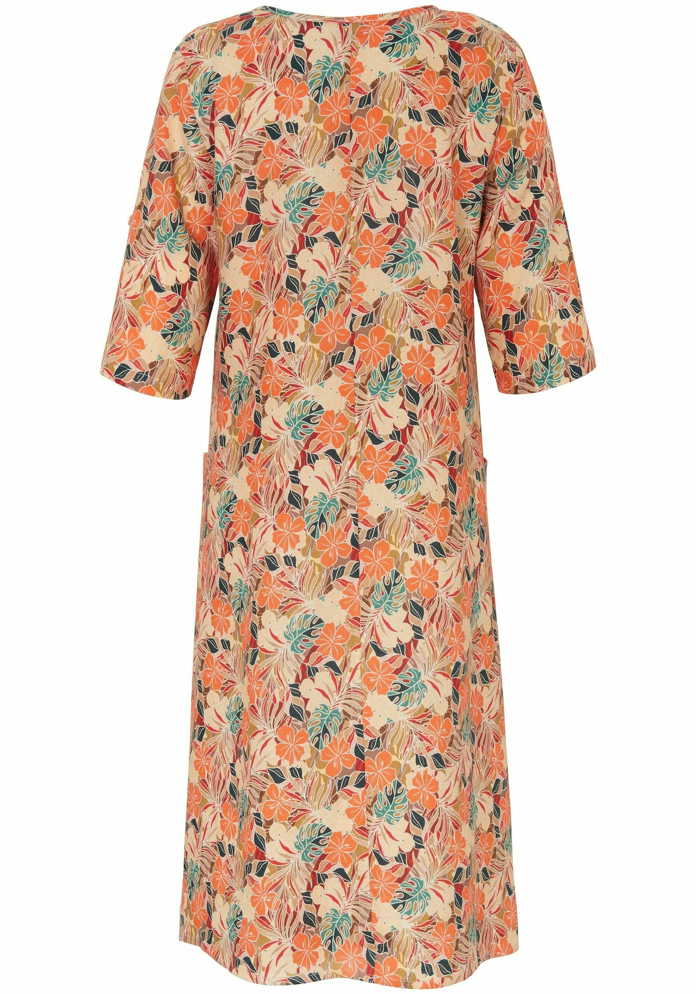 anna aura - Abendkleid mit 3/4-Arm in A-Form aus 100% Leinen