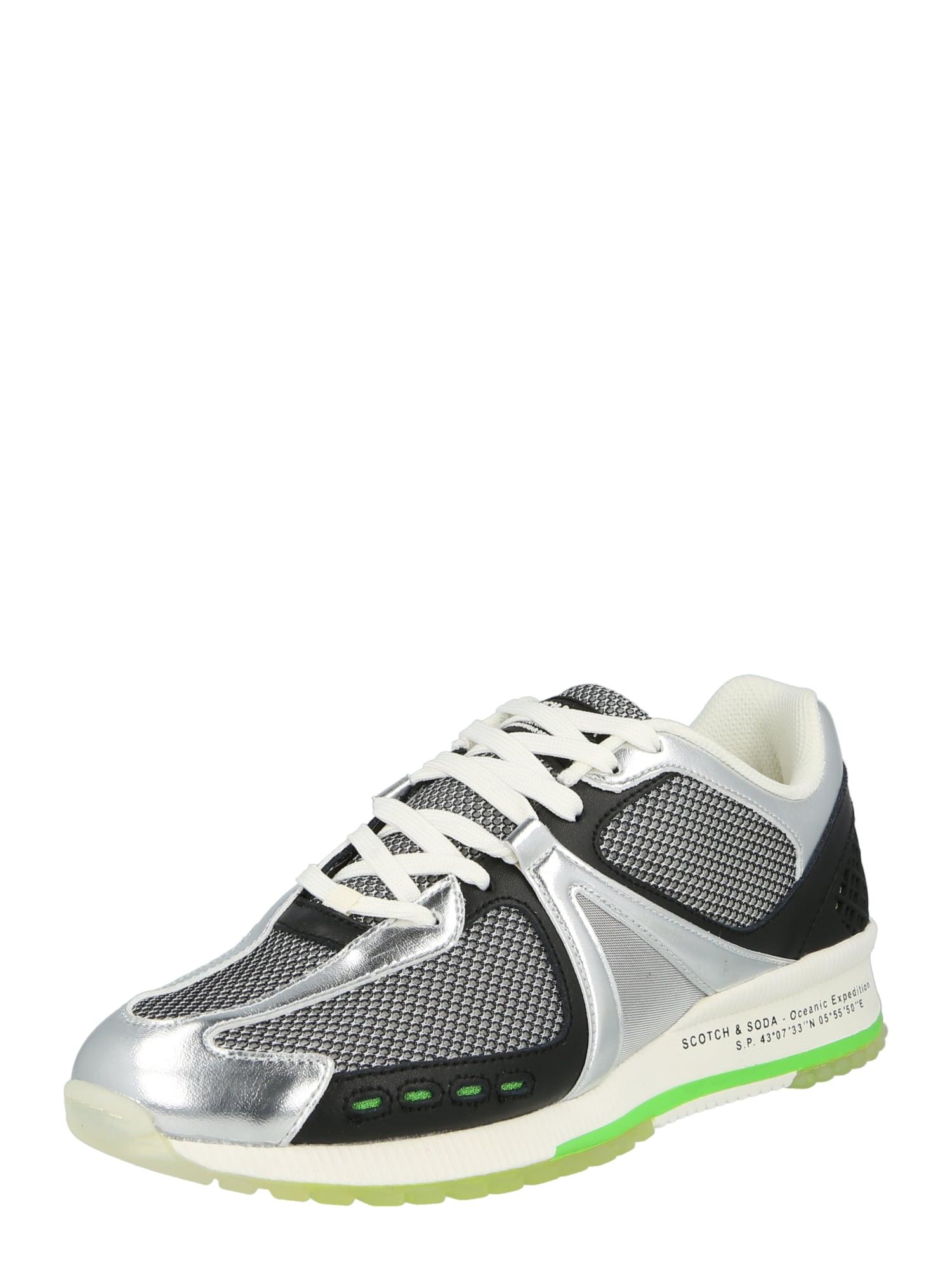 SCOTCH & SODA Tenisky 'Vivex'  stříbrná / černá / zelená