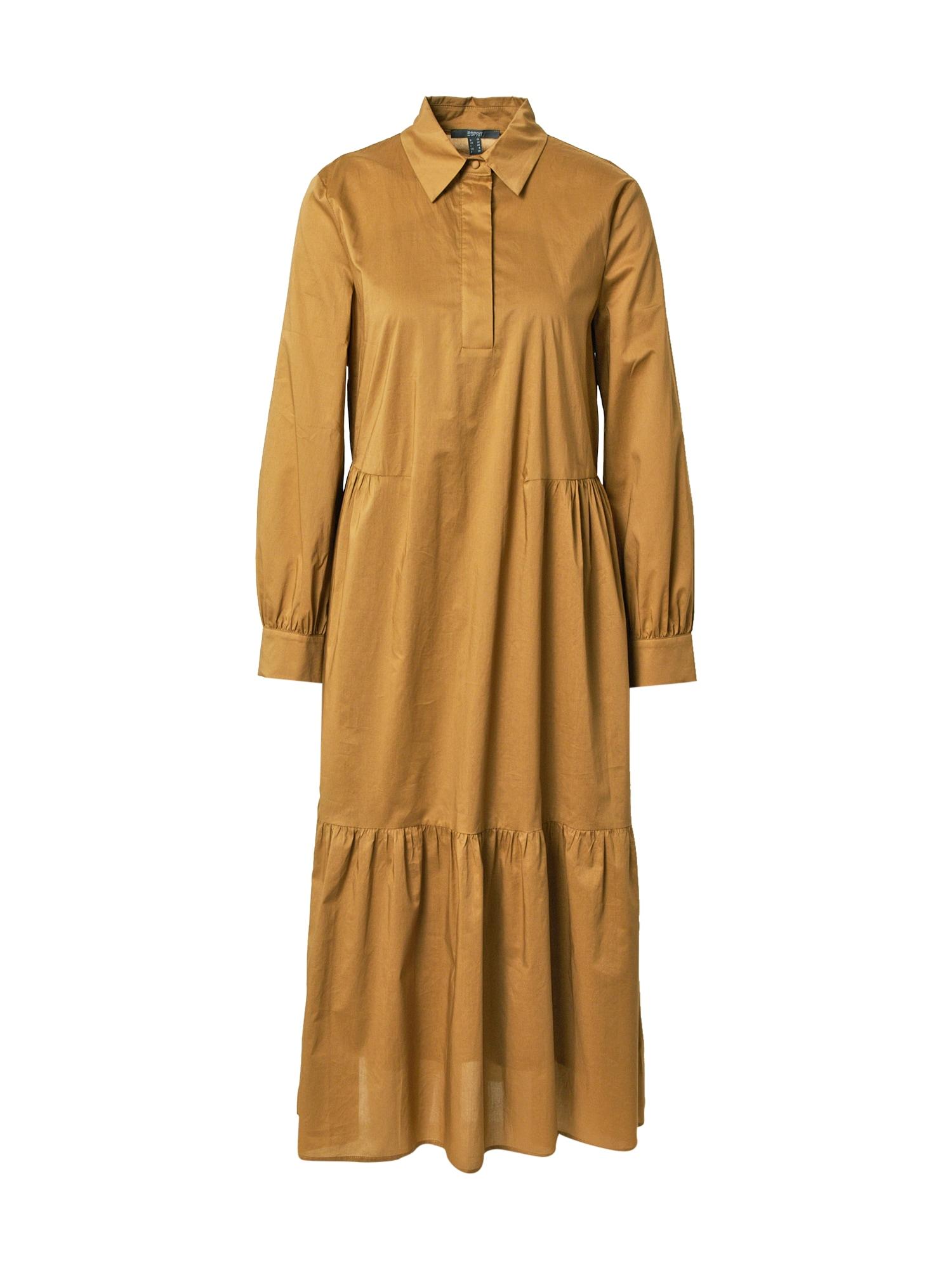 Esprit Collection Palaidinės tipo suknelė ruda (konjako)