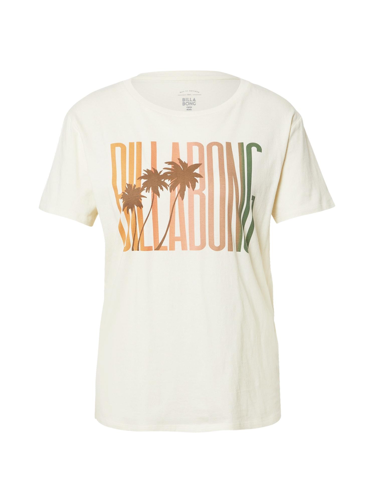 BILLABONG Tričko  oranžová / lososová / zelená / hnedá / biela