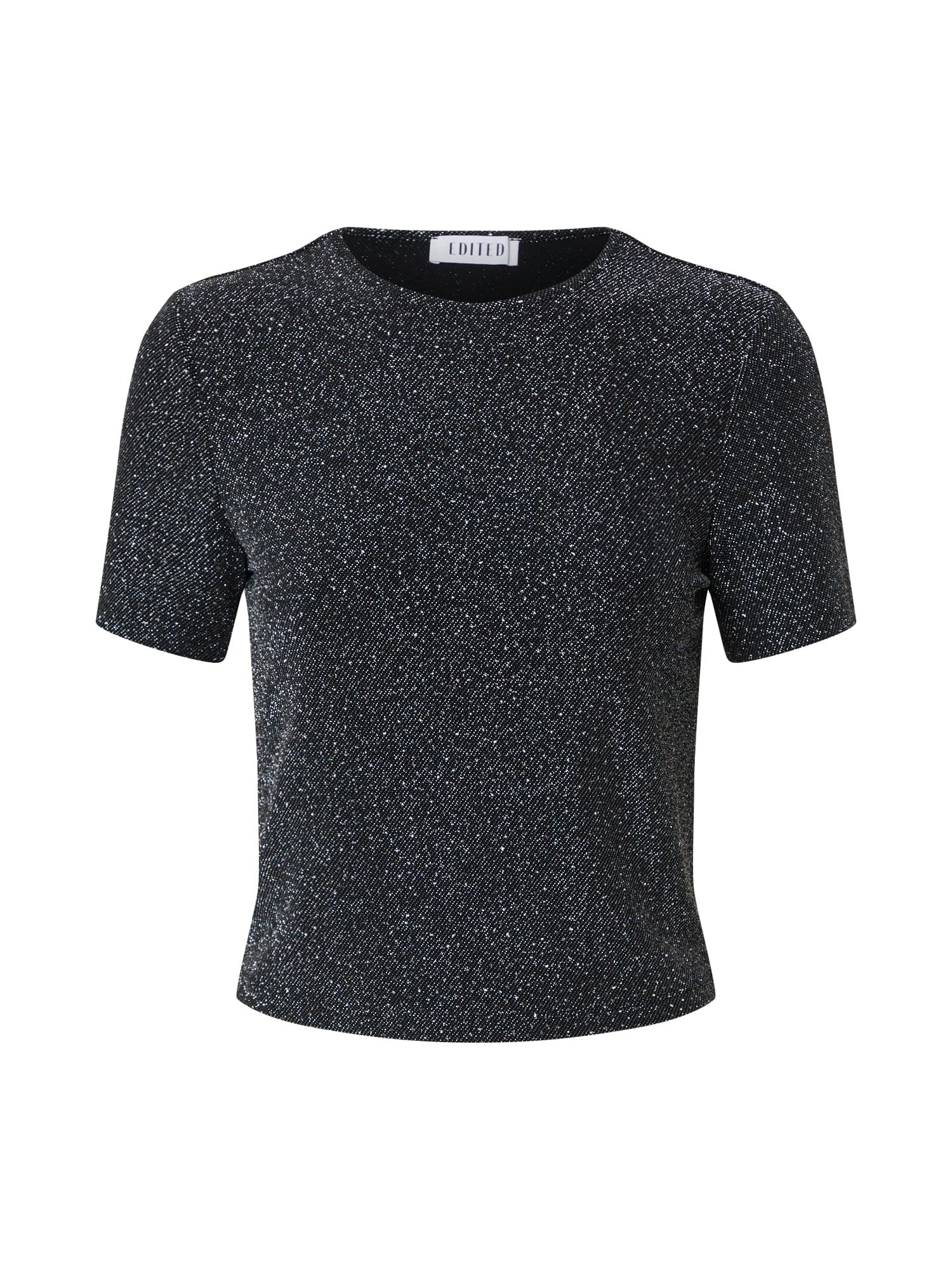 EDITED Marškinėliai 'Berta' sidabras / pilka