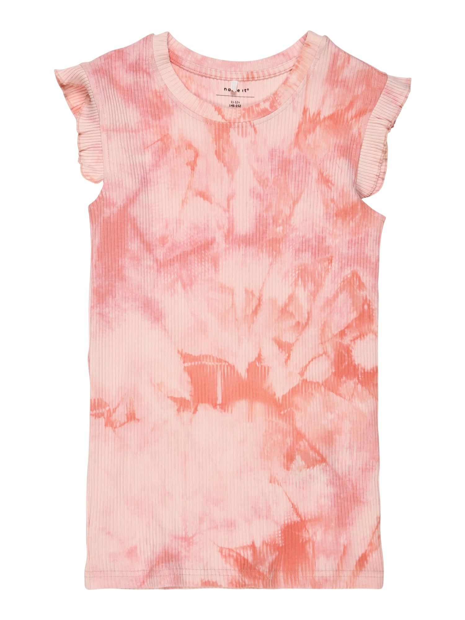 NAME IT Marškinėliai balta / rožinė