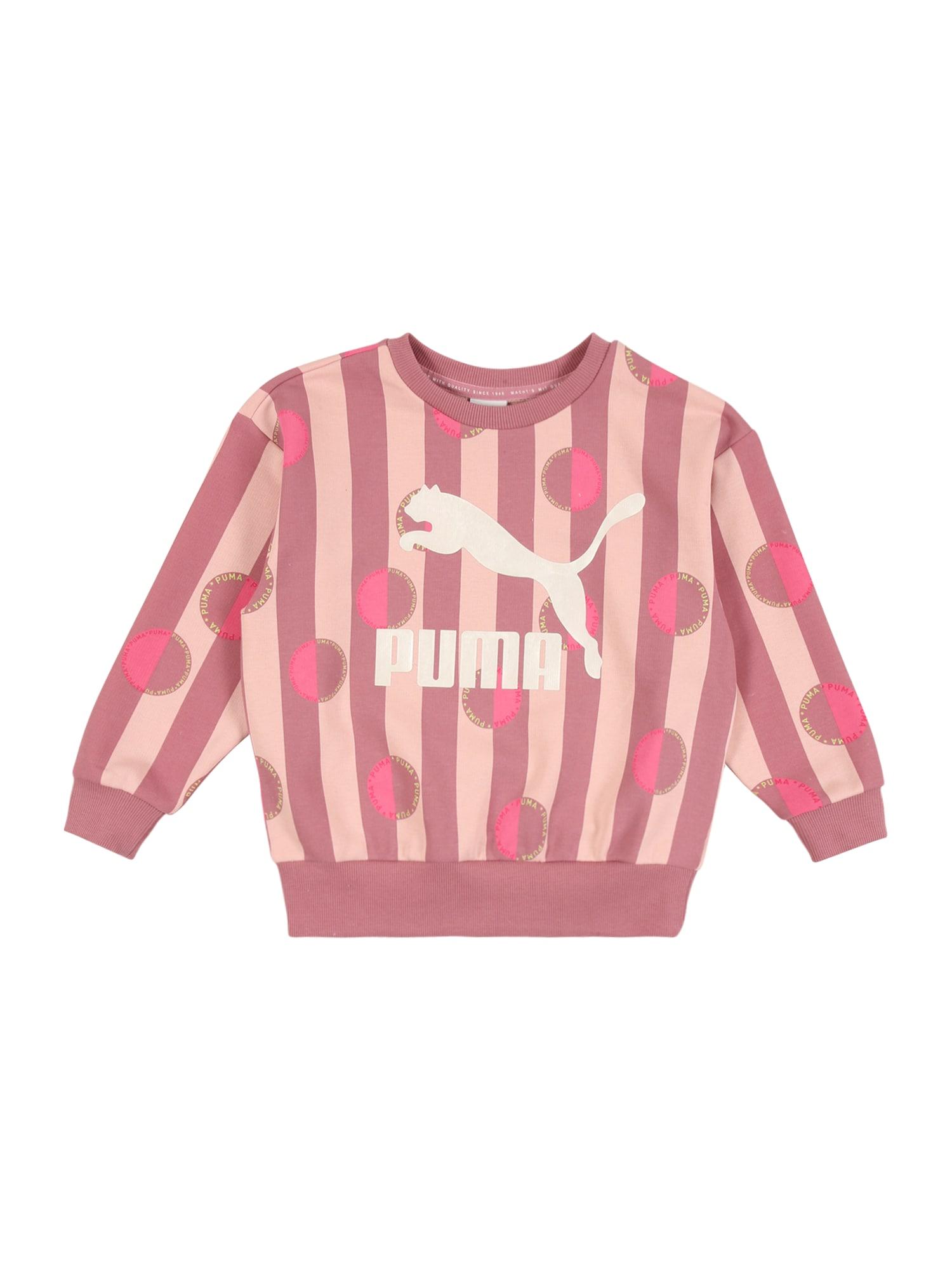 PUMA Sportinio tipo megztinis rožių spalva / tamsiai rožinė / balta