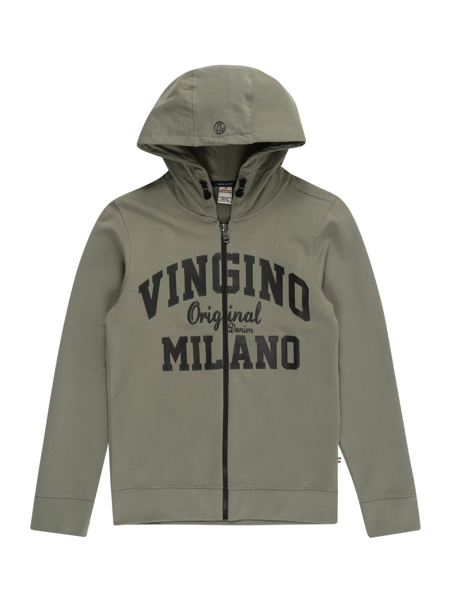 VINGINO Džemperis alyvuogių spalva / juoda
