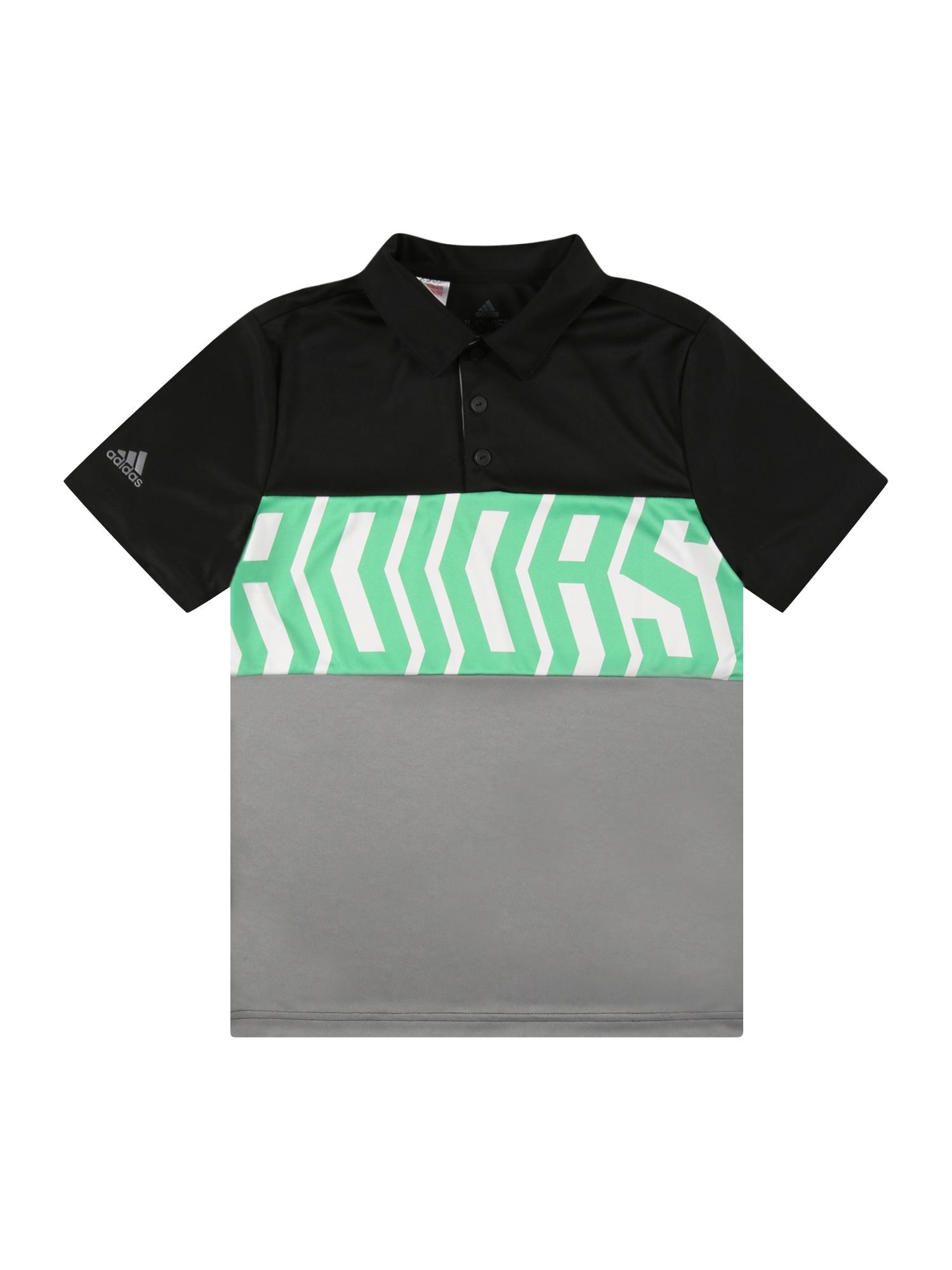 adidas Golf Sportiniai marškinėliai juoda / pilka / balta / mėtų spalva