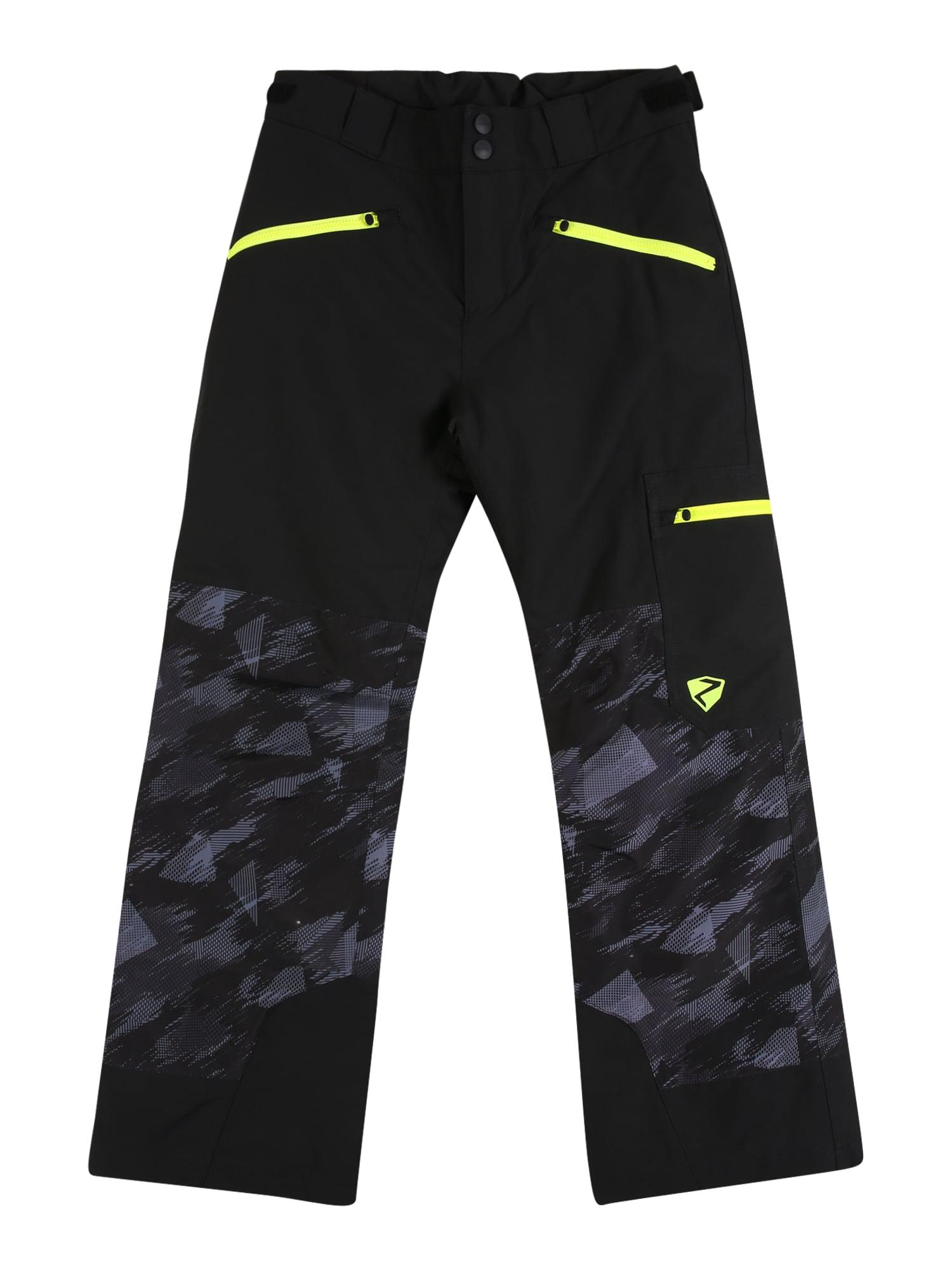 ZIENER Outodoor kalhoty 'Amiro'  černá / svítivě žlutá / šedá