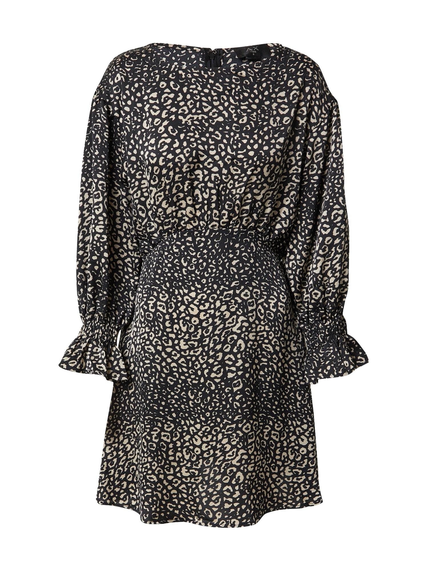 AX Paris Suknelė juoda / smėlio