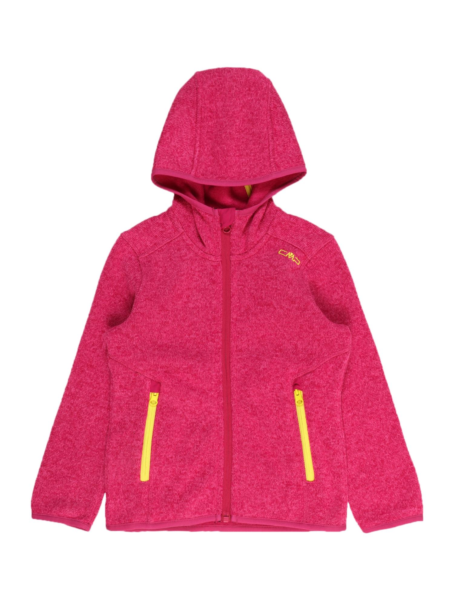 CMP Flisinis džemperis rožinė / geltona