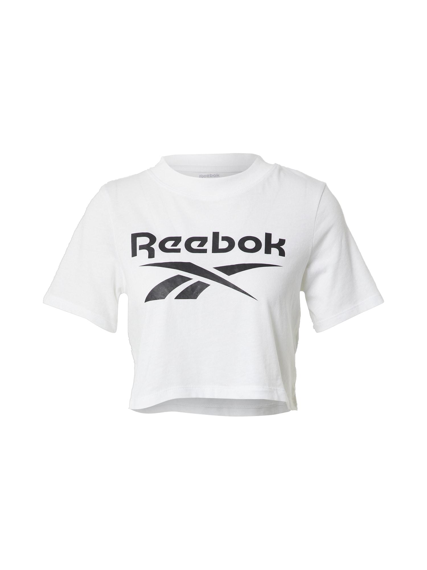 Reebok Classics Marškinėliai balta / juoda