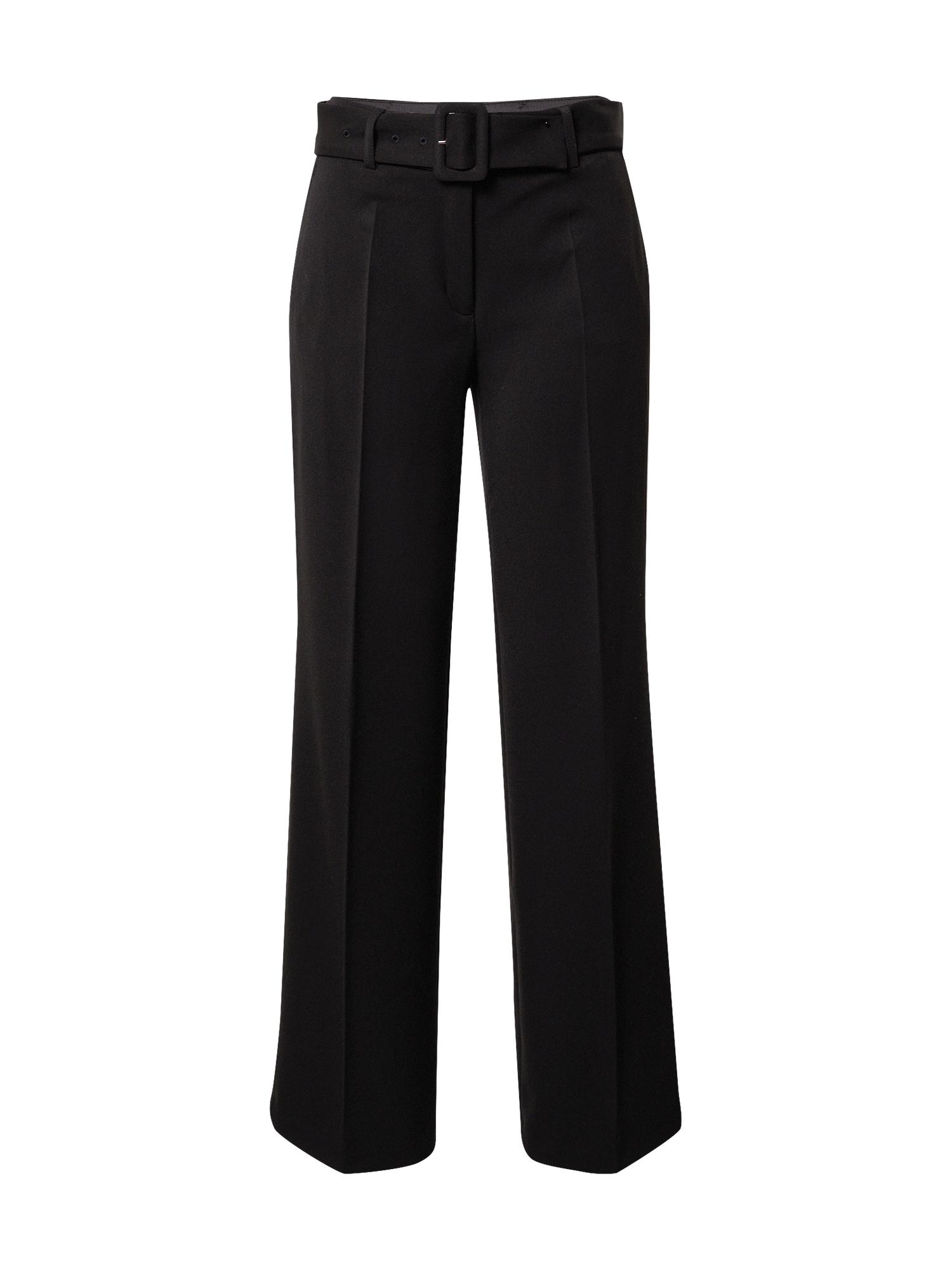 s.Oliver BLACK LABEL Kelnės su kantu juoda