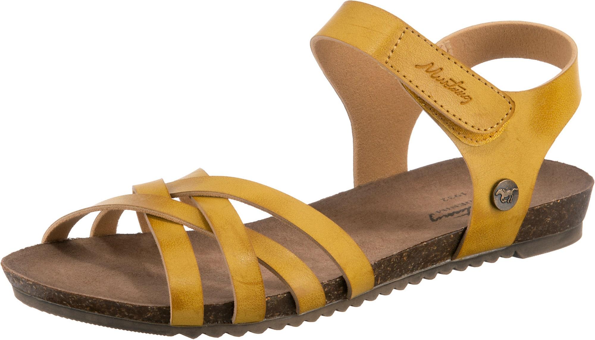 MUSTANG Sandály  žlutá
