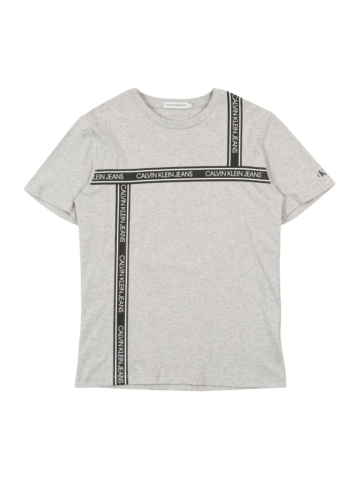 Calvin Klein Jeans Marškinėliai margai pilka / pilka / balta
