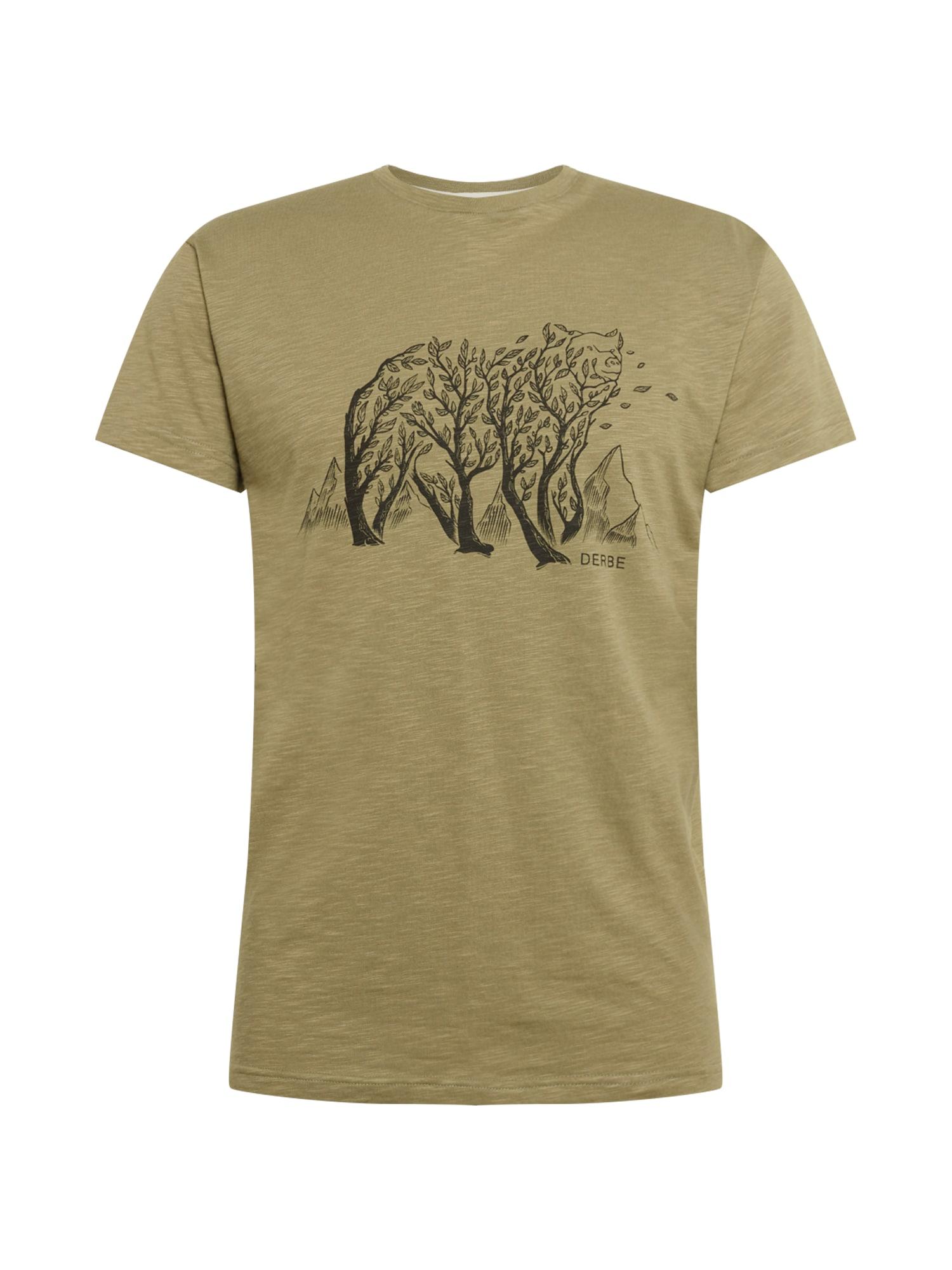Derbe Marškinėliai alyvuogių spalva