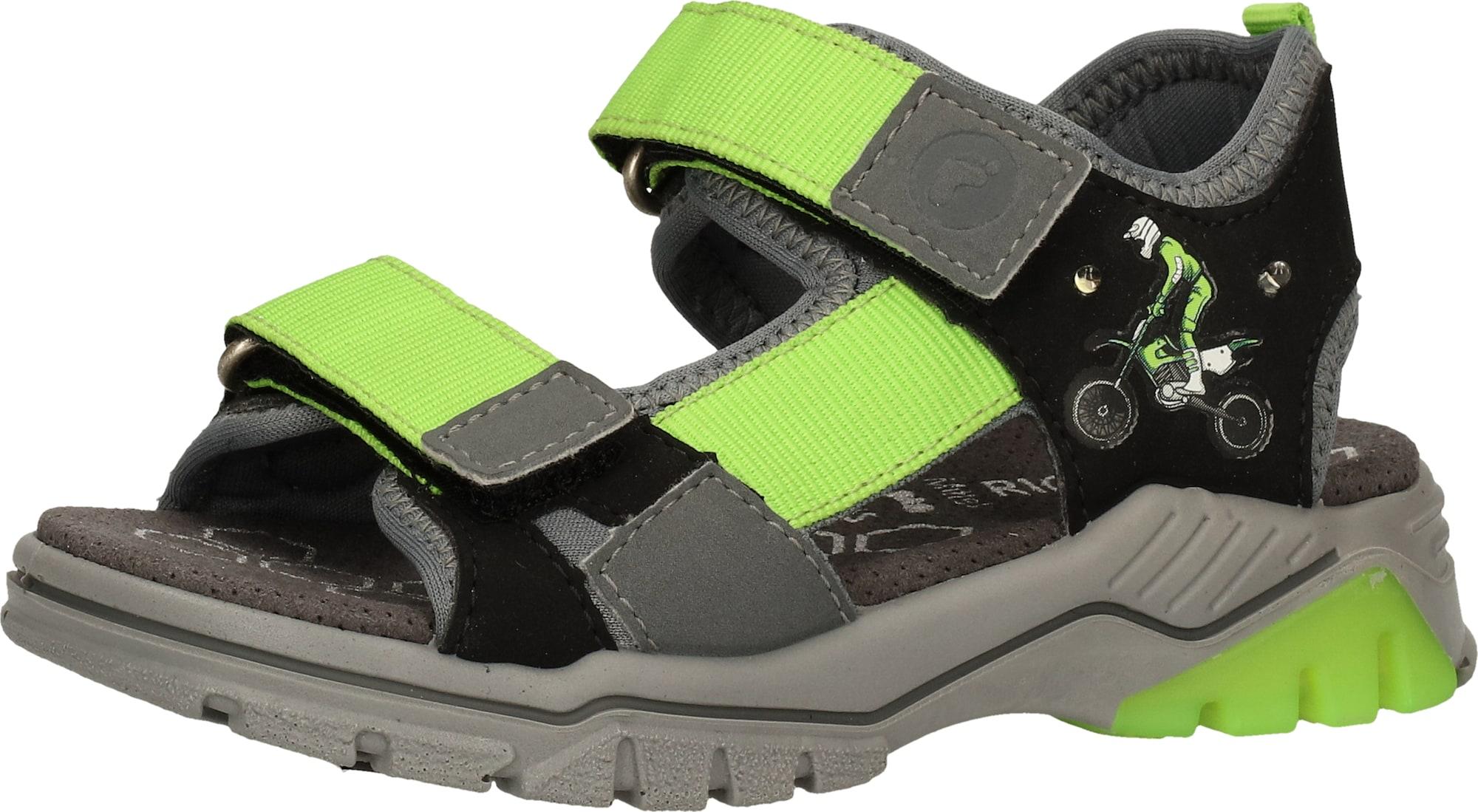 RICOSTA Atviri batai pilka / žalia
