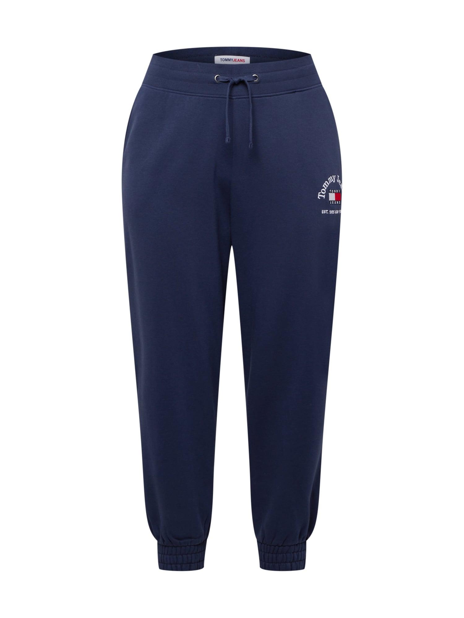Tommy Jeans Curve Kelnės tamsiai mėlyna / balta / raudona