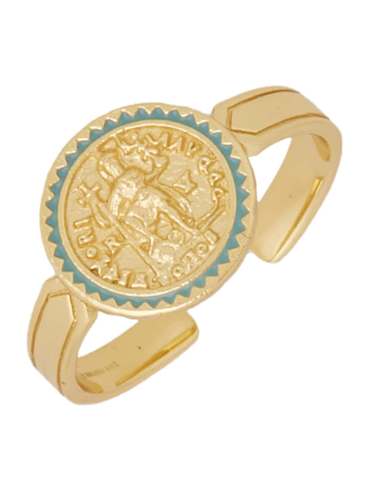 ANIA HAIE Žiedas auksas / žalia