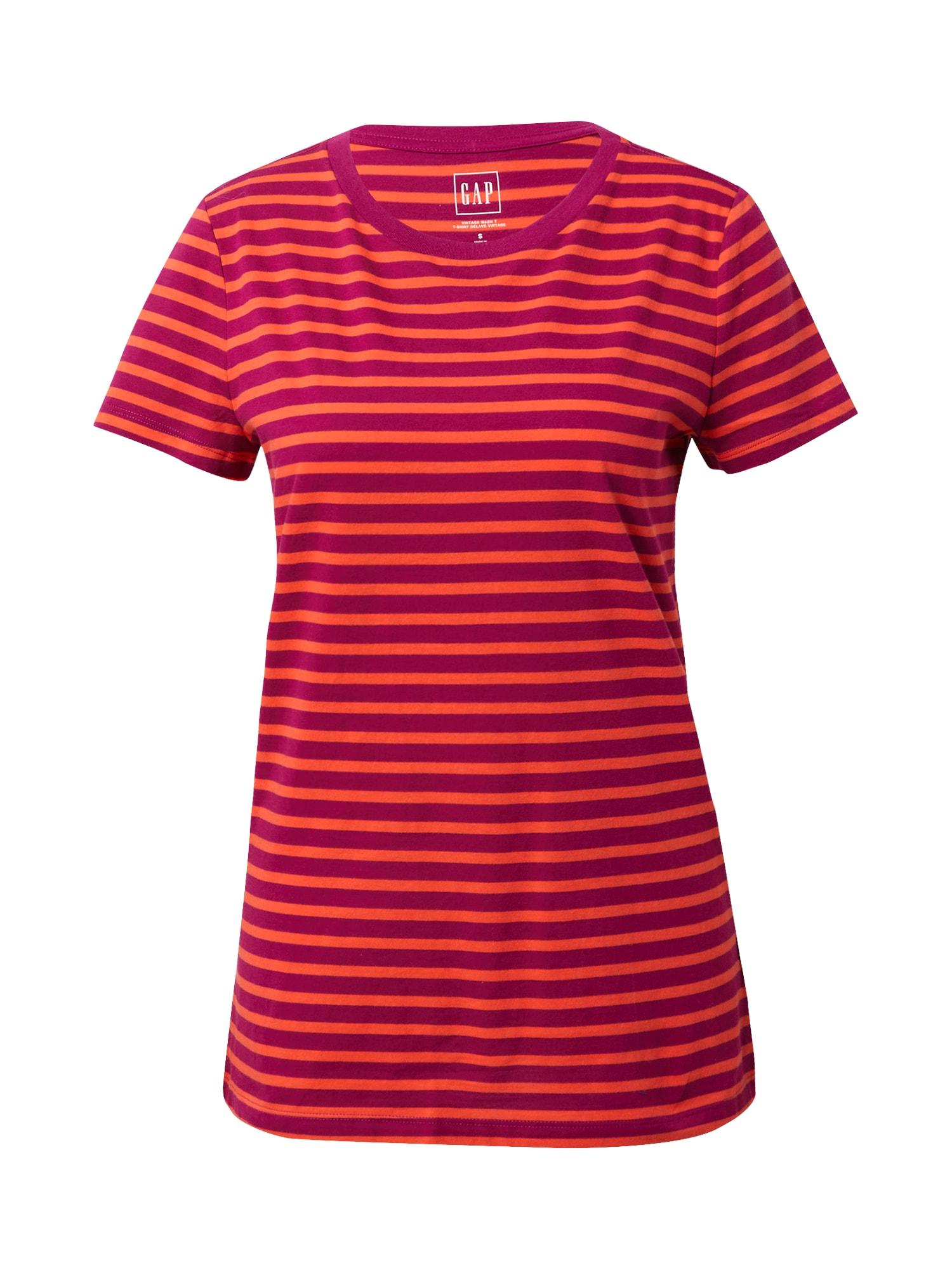 GAP Tričko  burgundská červeň / oranžově červená
