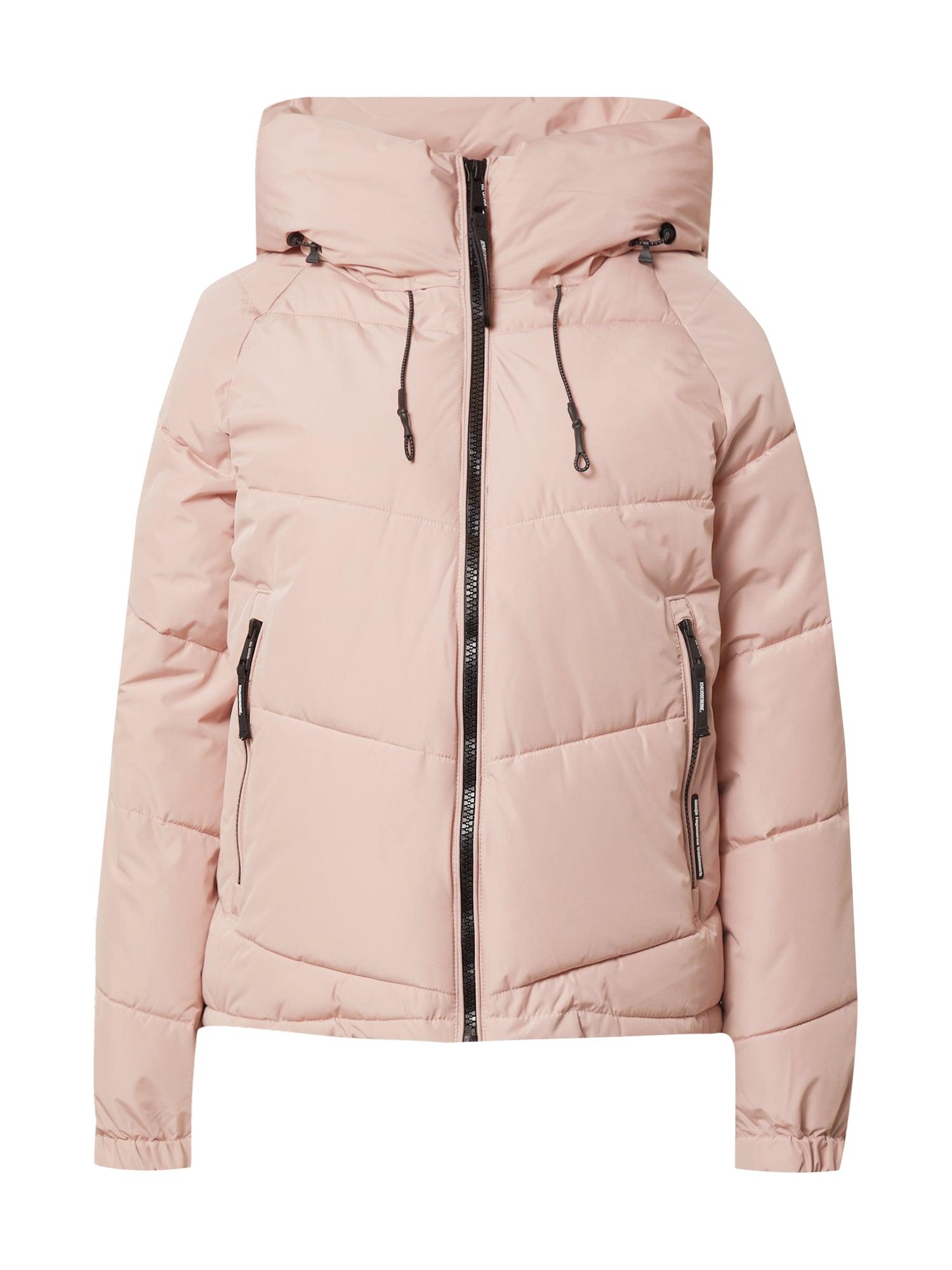 khujo Zimní bunda 'Esila'  pink / černá