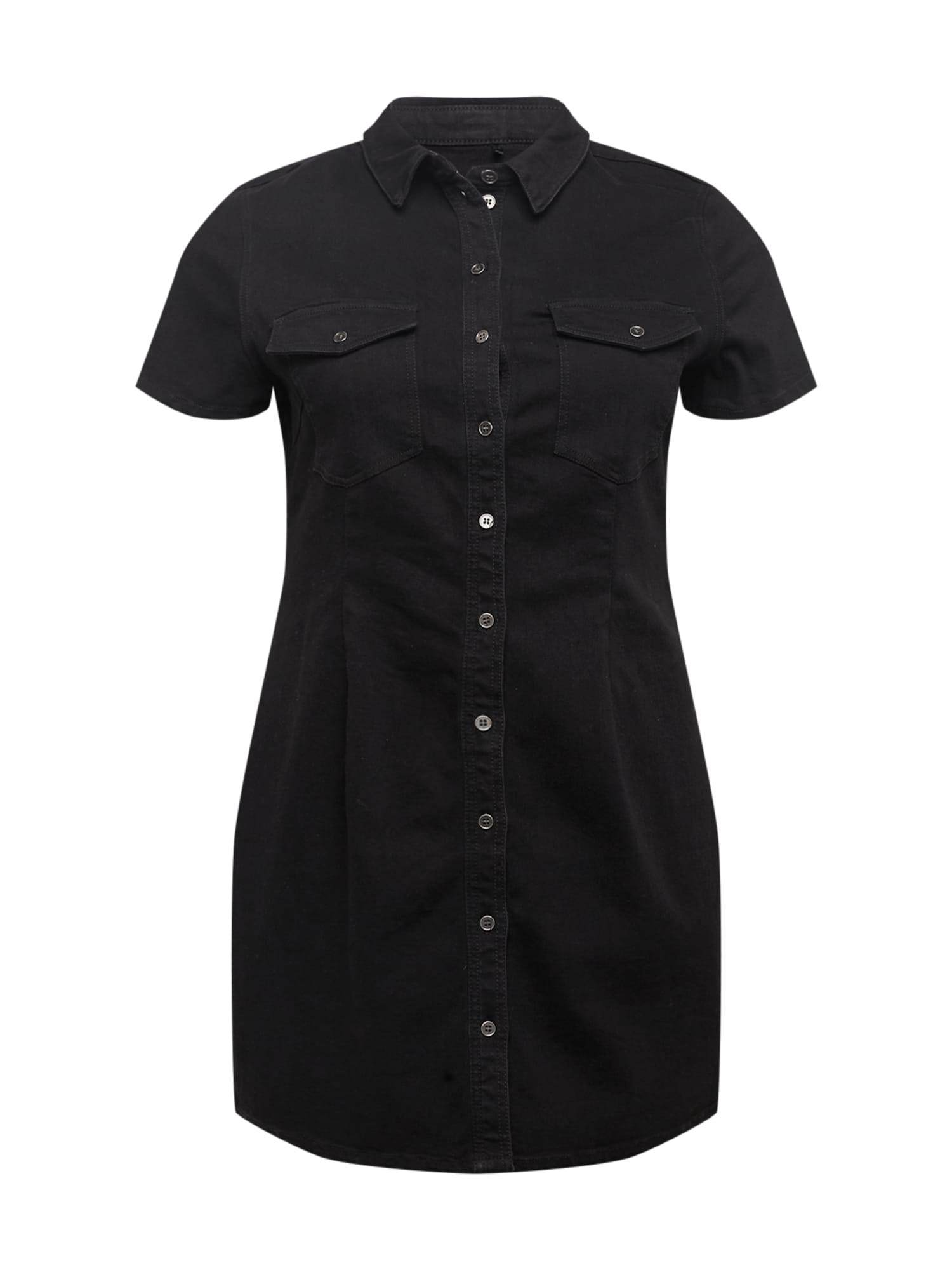 Noisy May Curve Šaty  černá