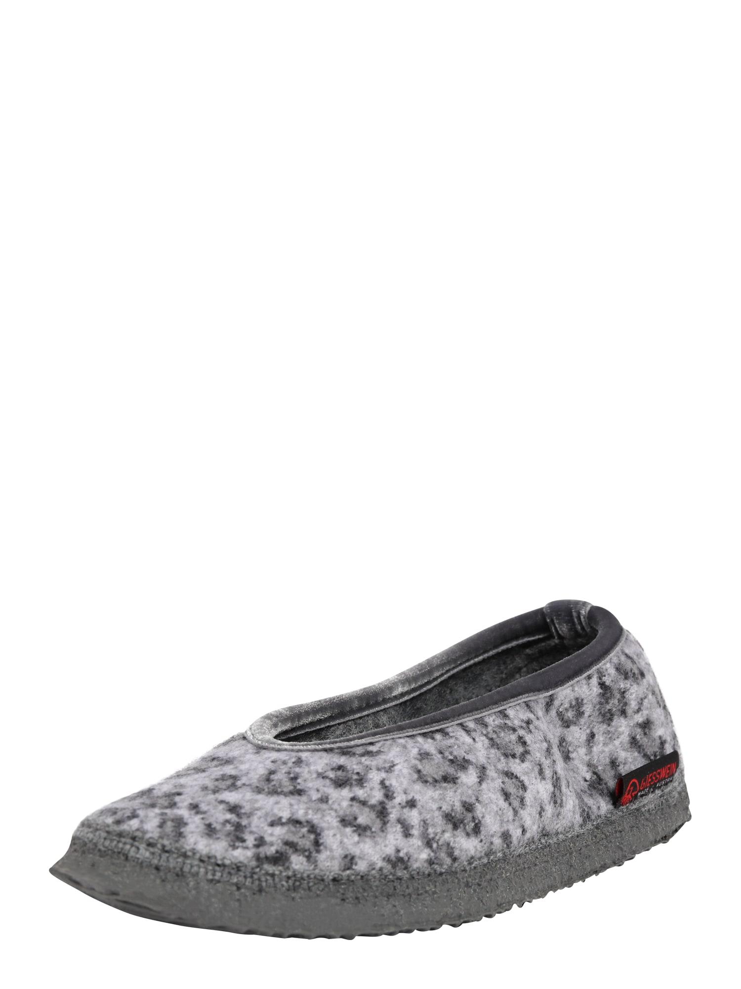 GIESSWEIN Pantofle 'Lauenau'  černá / šedá