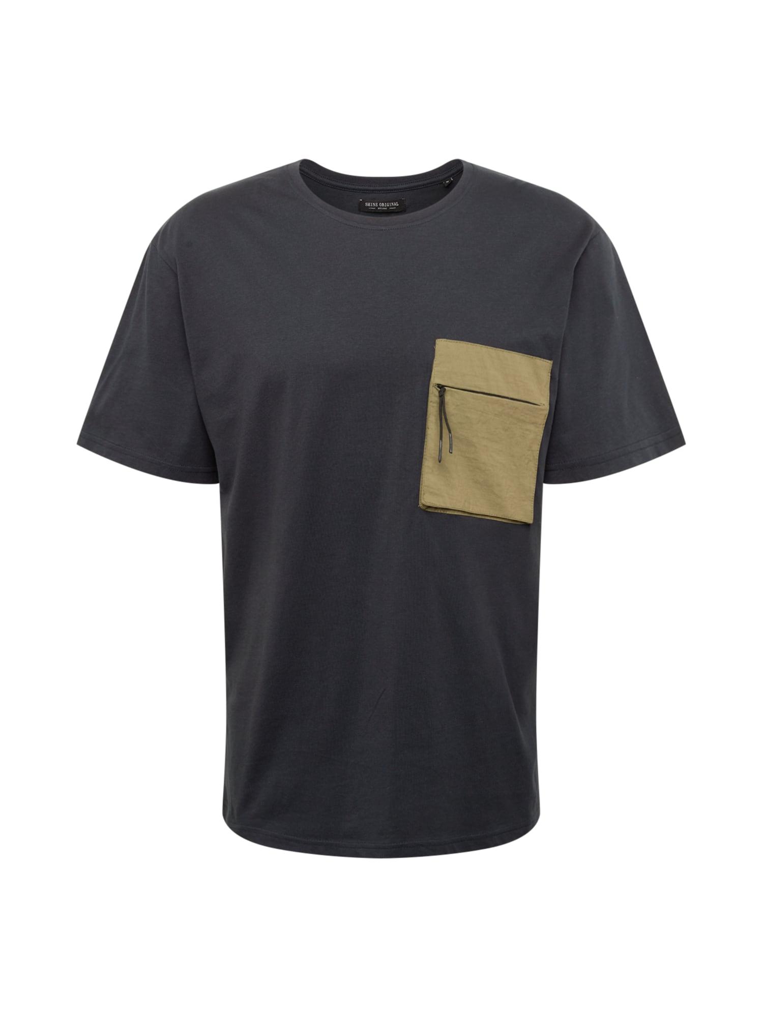 SHINE ORIGINAL Marškinėliai kobalto mėlyna / tamsi smėlio