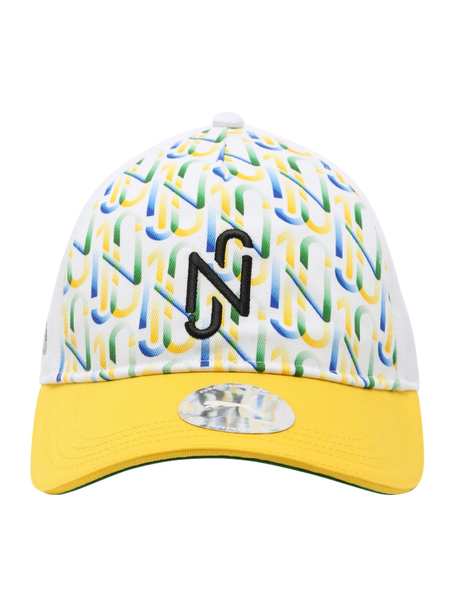 PUMA Sportinė kepurė žaliosios citrinos spalva / balta / juoda / žolės žalia / dangaus žydra