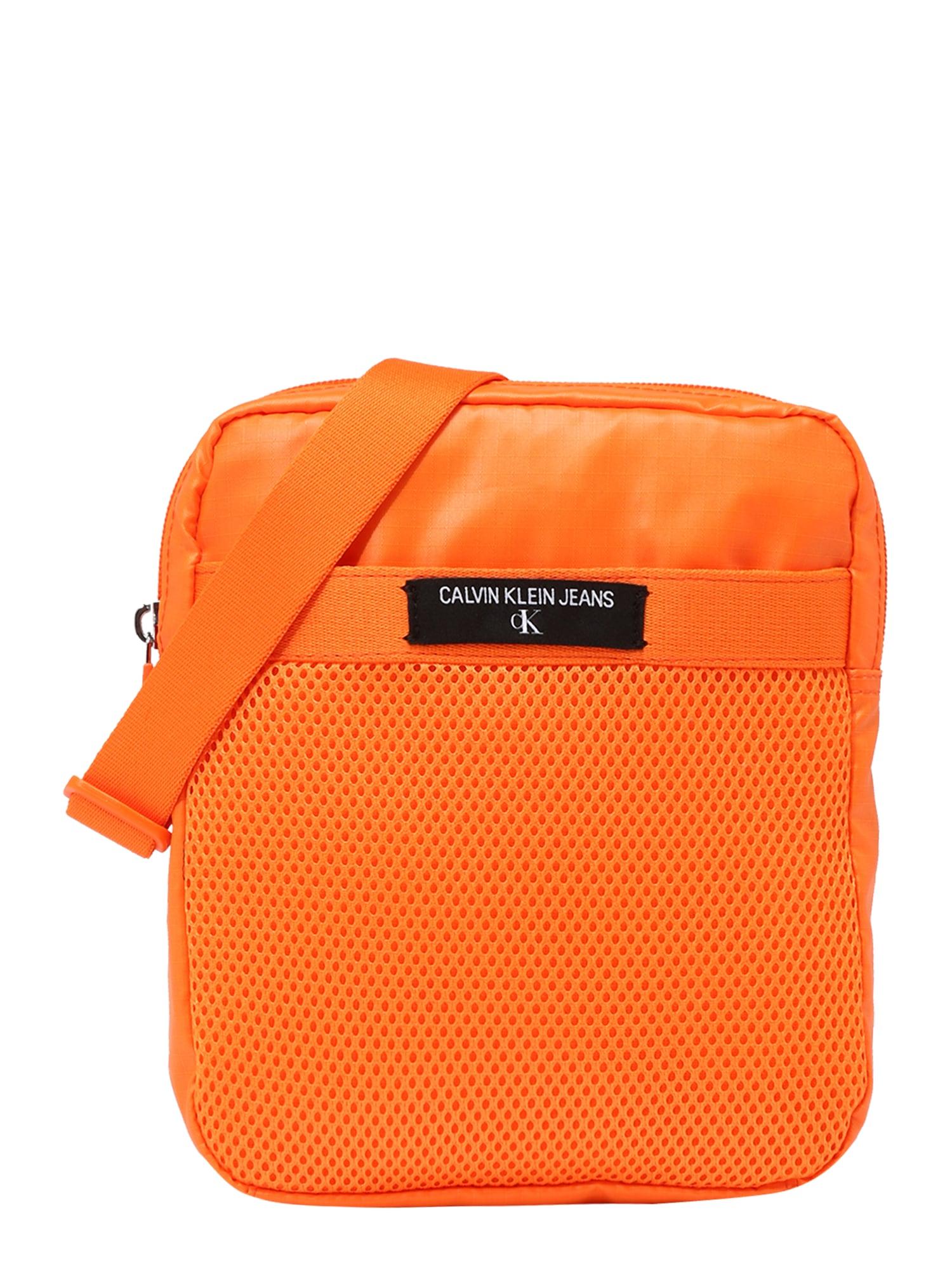 Calvin Klein Jeans Rankinė su ilgu dirželiu oranžinė