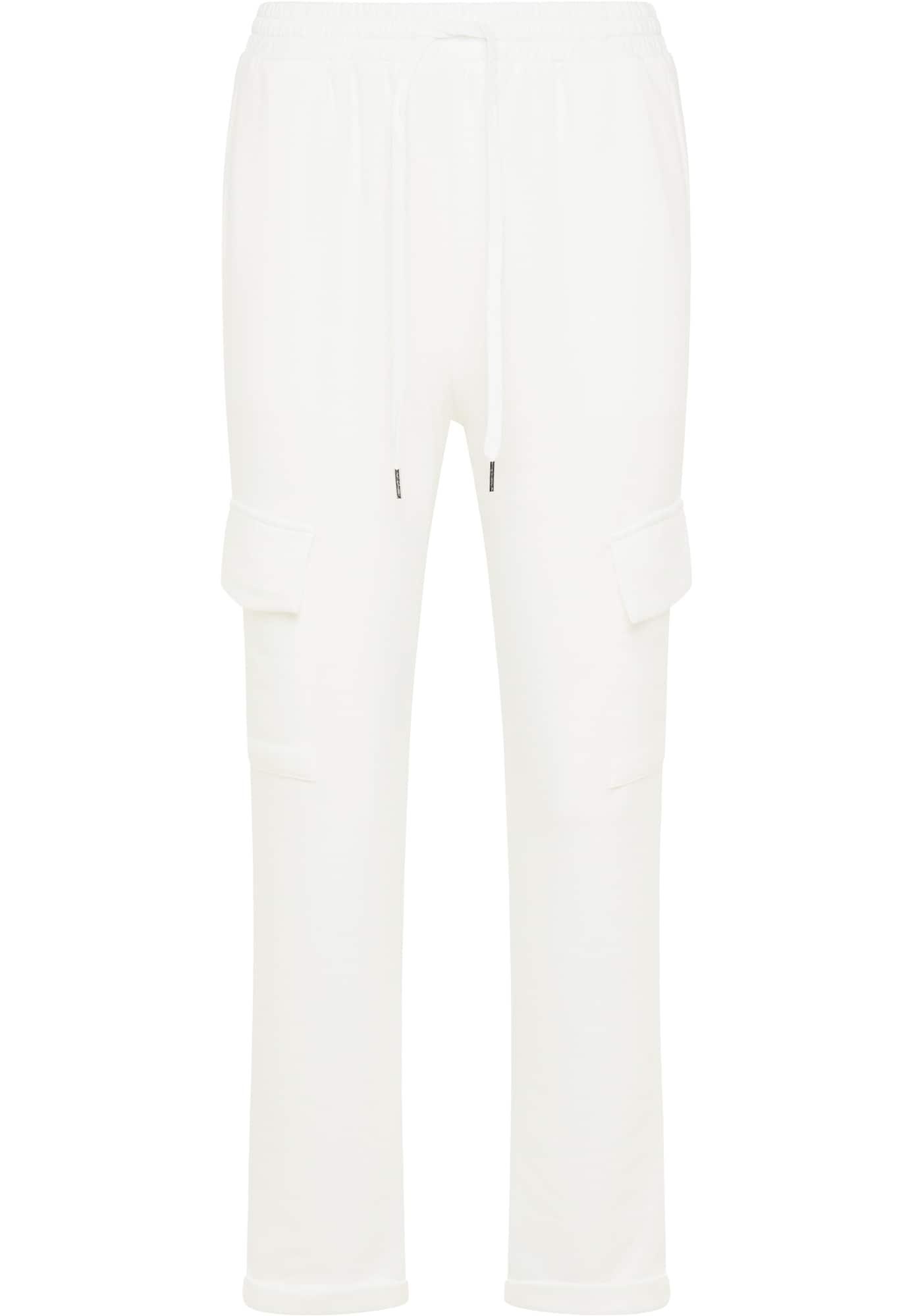 usha BLUE LABEL Laisvo stiliaus kelnės balta