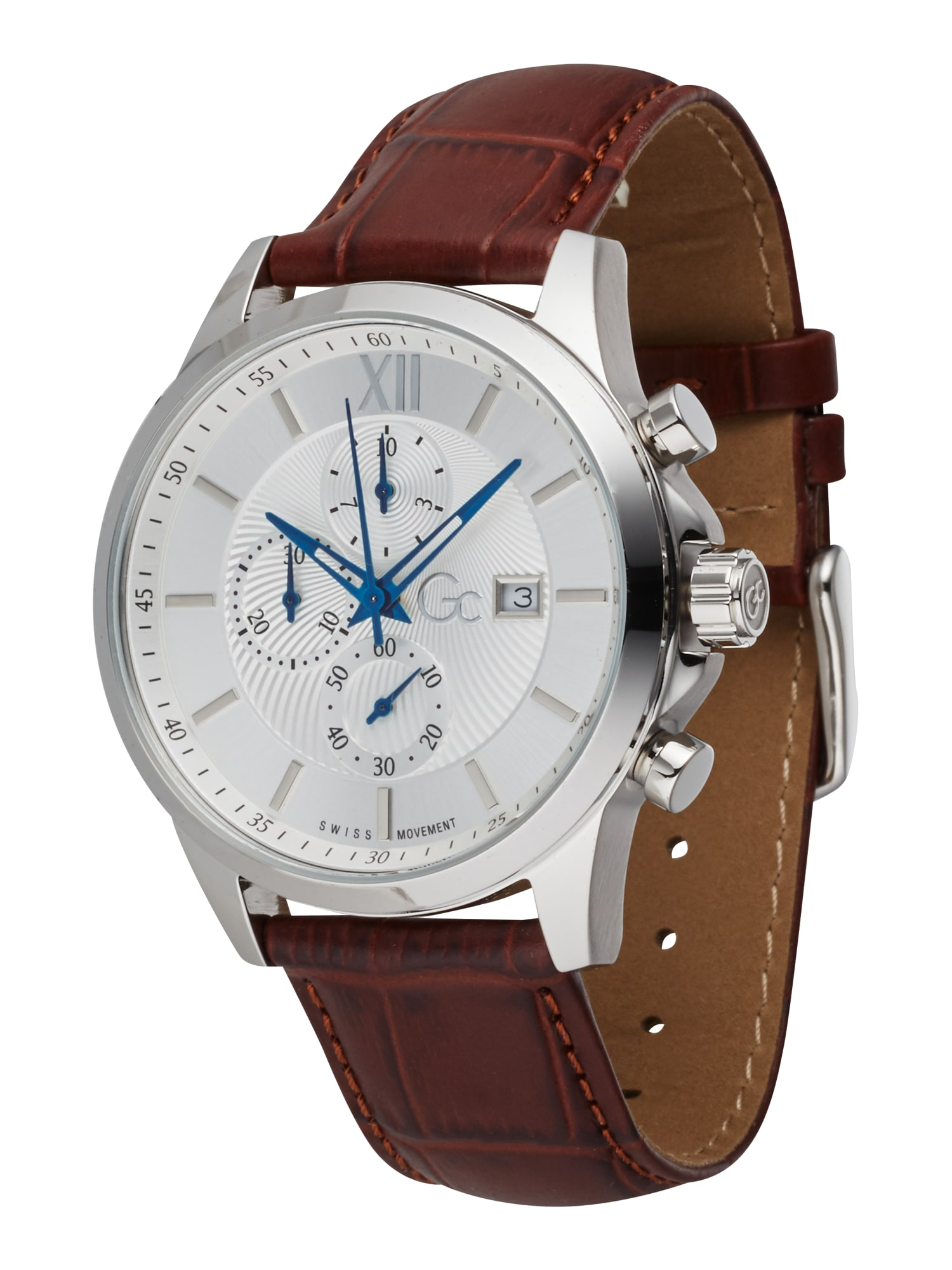 Gc Analoginis (įprasto dizaino) laikrodis 'Executive' rusva / sidabrinė