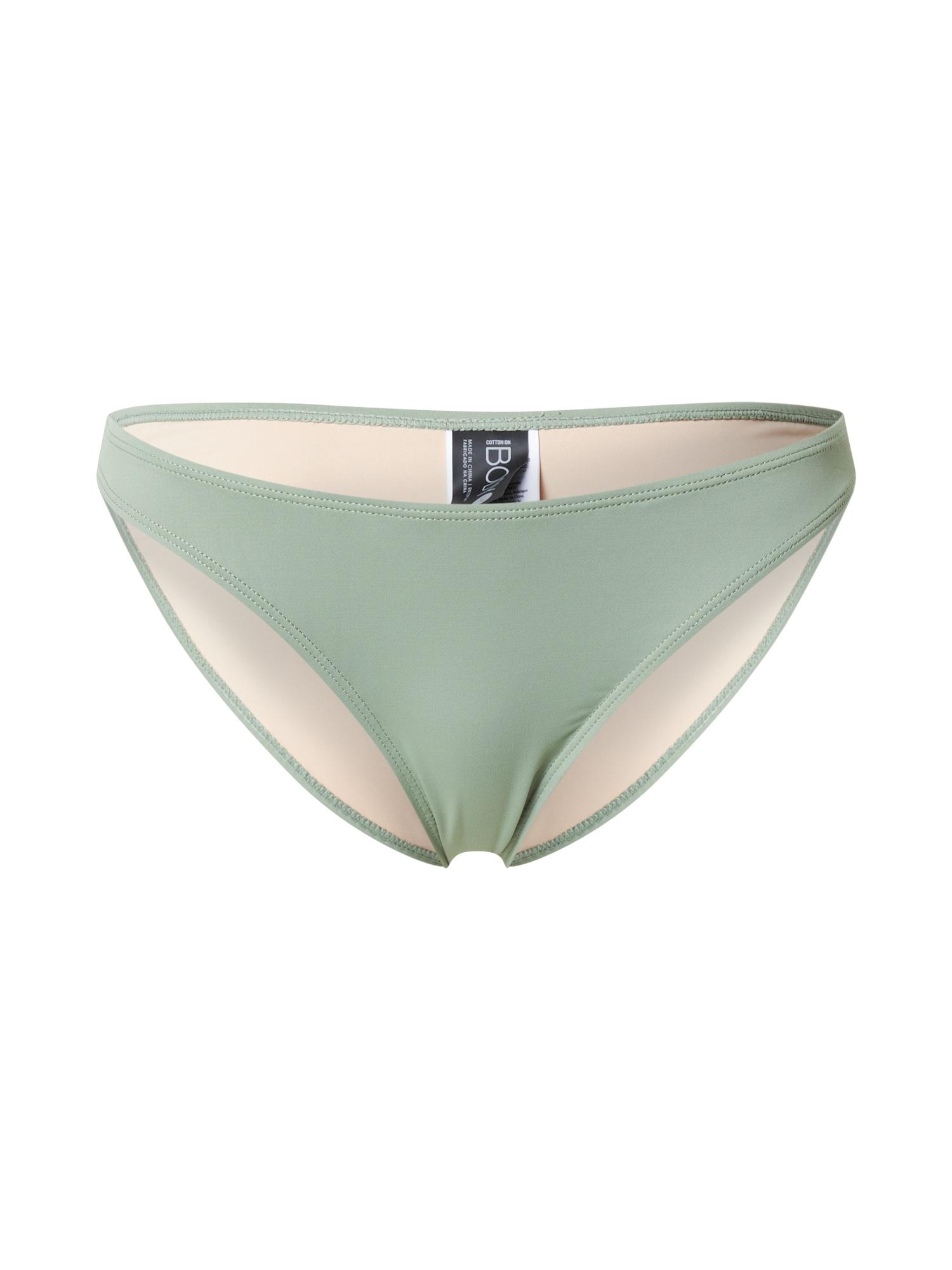 Cotton On Body Bikinio kelnaitės pastelinė žalia