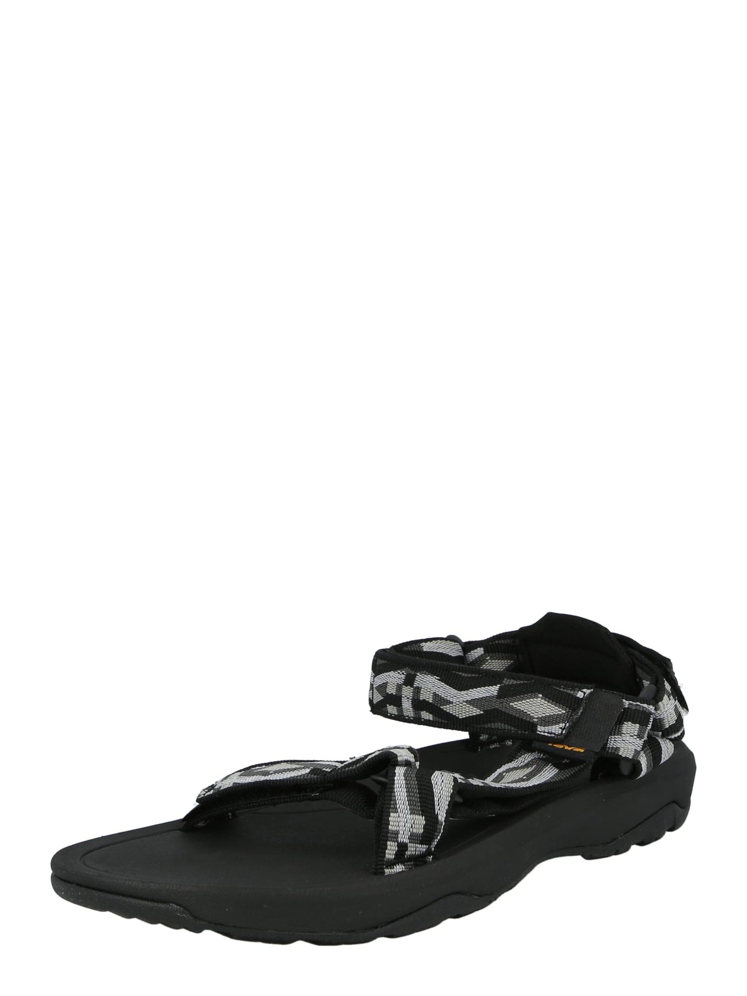 TEVA Atviri batai juoda / balta / šviesiai pilka / tamsiai pilka