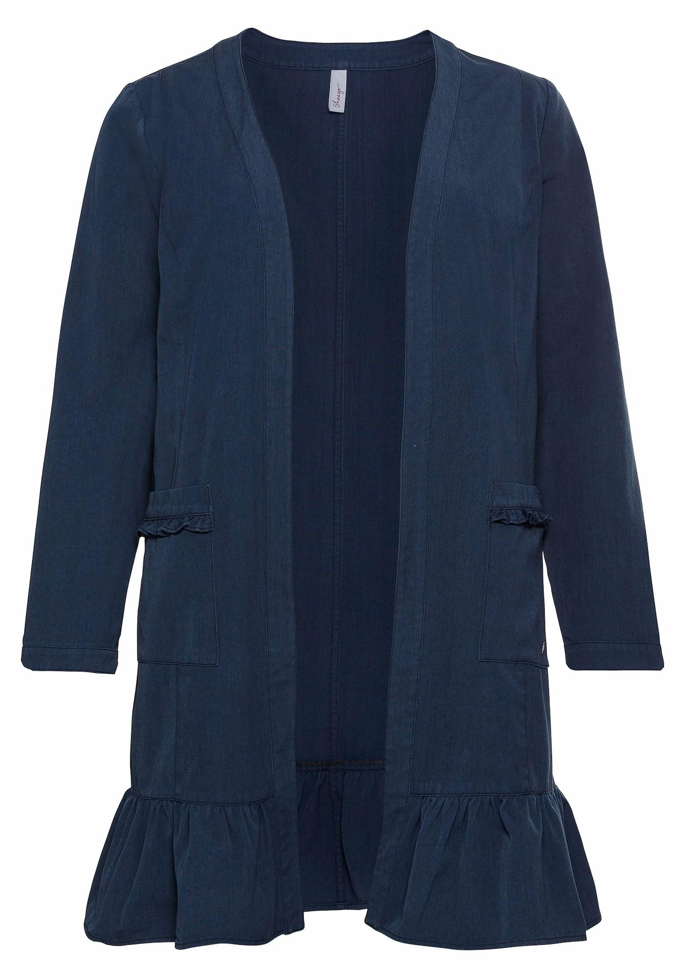 SHEEGO Demisezoninis paltas tamsiai mėlyna jūros spalva